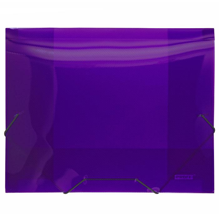 Папка на резинке Proff Next, ширина корешка 20 мм, цвет: фиолетовый. Формат А4SB20TW-09Папка на резинке Proff Next - это удобный и функциональный офисный инструмент, предназначенный для хранения и транспортировки рабочих бумаг и документов формата А4.Папка изготовлена из износостойкого высококачественного полипропилена. Внутри папка имеет три клапана, что обеспечивает надежную фиксацию бумаг и документов. Папка - это незаменимый атрибут для студента, школьника, офисного работника. Такая папка надежно сохранит ваши документы и сбережет их от повреждений, пыли и влаги.
