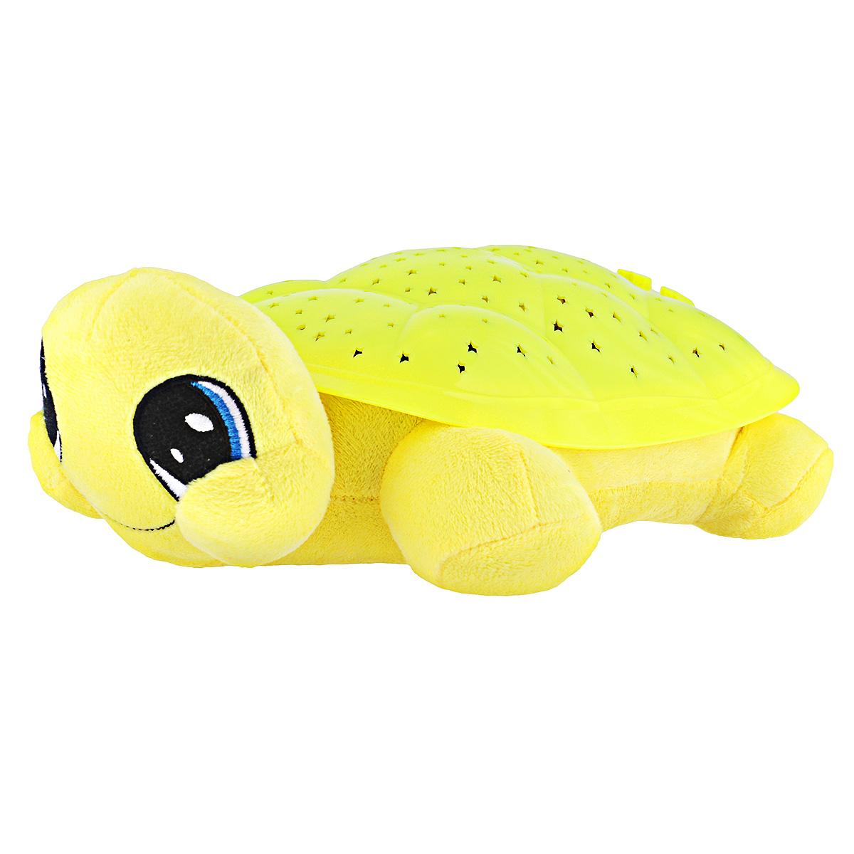 Ночник-проектор Мульти-Пульти Волшебная черепаха, цвет: желтыйBY8006A-RUНочник-проектор Мульти-Пульти Волшебная черепаха создаст волшебную атмосферу для сна ребенка.Это удивительный светильник, выполненный в форме мягкой игрушки-черепашки. Дизайн игрушки наверняка сразу понравится вашему малышу и завоюет его безграничную любовь.Глазки и ротик черепашки вышиты нитками. Благодаря своему волшебному панцирю черепашка имеет возможность проецировать на потолок и стену звездное небо. Ночник может работать в четырех цветовых режимах: с подсветкой красного, синего, зеленого и оранжевого цветов. Режима мигания света также четыре. Для убаюкивания малыша черепашка проигрывает фрагменты следующих колыбельных: Спят усталые игрушки, Спи, моя радость, усни и Колыбельная медведицы.Для переключения режимов выбора цвета, мигания света и мелодий на панцире черепахи расположены специальные кнопки. В комплект входит инструкция по эксплуатации на русском языке.Необходимо докупить 3 батарейки напряжением 1,5V типа ААА (не входят в комплект).