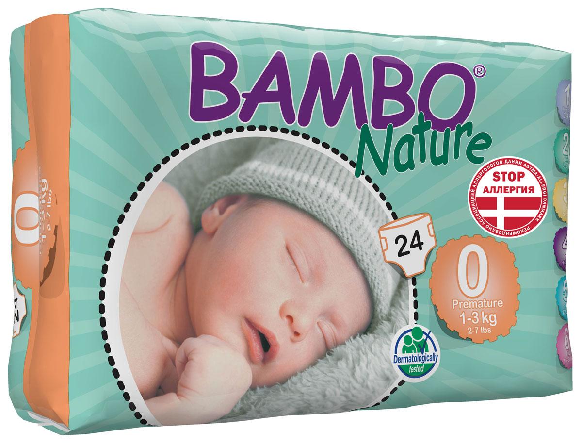 "Bambo Nature Подгузники детские одноразовые, ""Premature"", 1-3 кг, 24 шт"