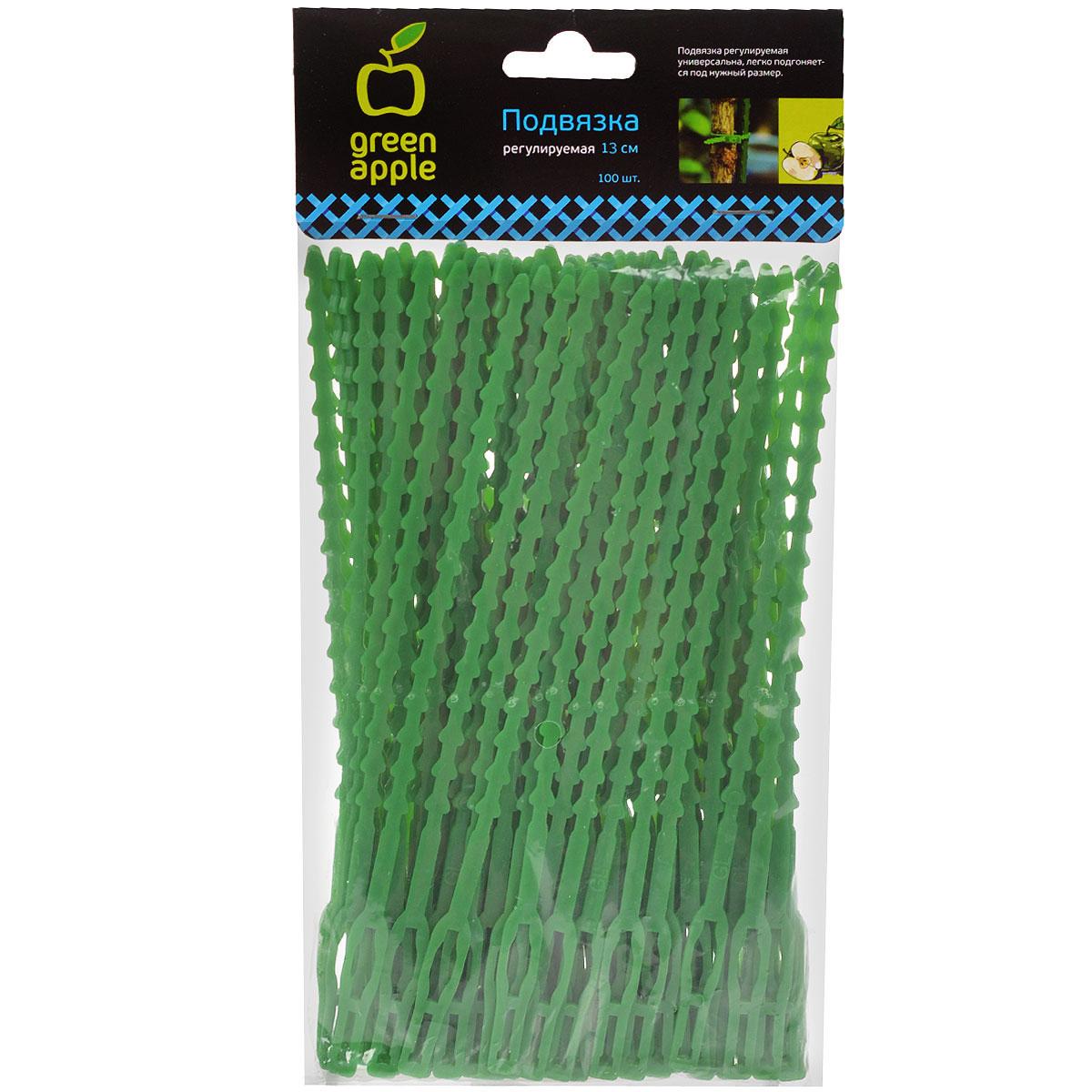 Подвязка регулируемая Green Apple GTT-26, 13 см, 100 шт8711969015999Подвязка регулируемая универсальна, легко подгоняется под нужный размер.