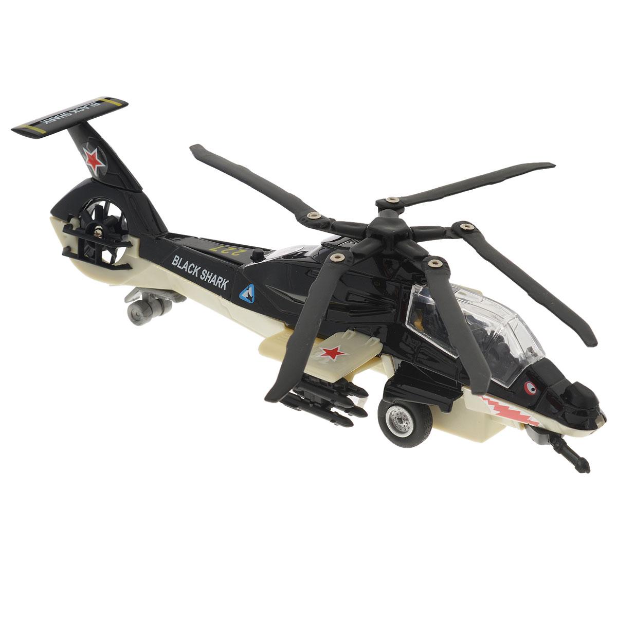 ТехноПарк Вертолет инерционный Black Shark