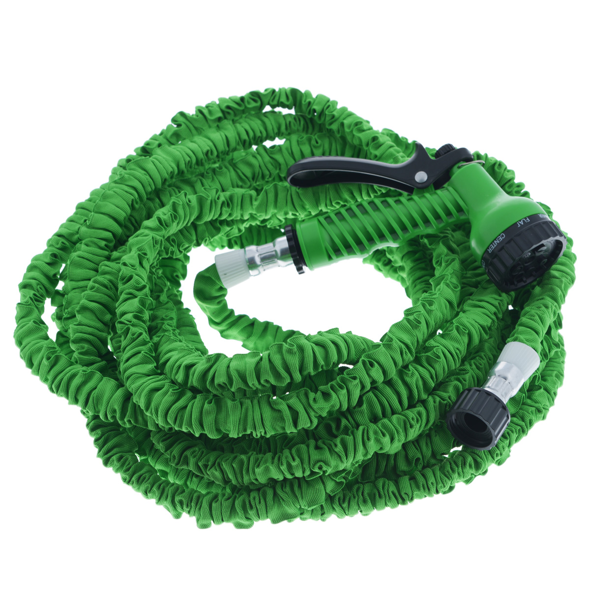 Шланг садовый Mayer & Boch, цвет: зеленый, 15-45 м2.645-241.0Садовый шланг Mayer & Boch - это прекрасный шланг, удлиняющийся в 3 раза. Подключите шланг к крану и можете приступать к использованию. Очень легкий вес, что делает шланг еще более удобным в эксплуатации. Внутри шланг выполнен из латекса, снаружи полиэстер. Шланг подходит как для полива рассады, цветов, газонов, так и для мытья машины.Особенности: - удобный и легкий, - растягивается в длину при поступлении воды, - автоматически возвращается в исходный размер, - подключается к стандартным кранам, - не перекручивается, не заламывается, не путается, - гибкий, - удобная сборка, - удлиняется в 3 раза.Распылительные насадки в комплект не входят.Длина шланга без воды: 15 м.Длина шланга при наполнении водой: 45 м.