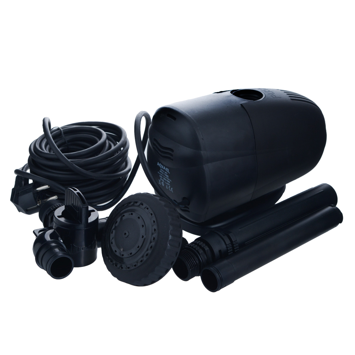 Насос фонтанный Aquael. PFN-7500GWXF02637Насос фонтанный Aquael предназначен для помпования и фильтрации воды в фонтанах, каскадах, водоемах, садовых прудах и приусадебных бассейнах.Может использоваться также в других условиях, например, в садоводстве, в домашнем или сельском хозяйстве, при разведении рыб или животных, на строительных площадках и т.д. Небольшие размеры, значительная производительность и возможность регуляции, а прежде всего, простота конструкции, делает насос универсальным и эффективным. Для расширения возможности фонтана можно использовать дополнительные аксессуары из ассортимента Aquael. Максимальная температура: 35°C.Максимальная высота фонтана: 4 м.Размер насоса: 23 см х 12 см х 14 см.Длина кабеля: 10 м.Мощность: 7000 л/ч.