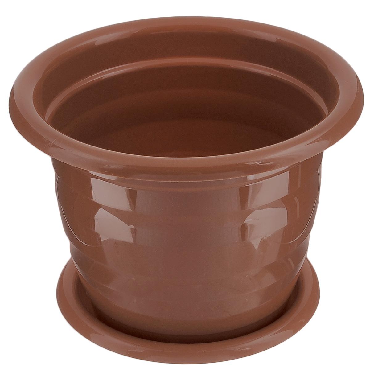 Горшок для цветов Альтернатива Виола, с поддоном, цвет: коричневый, 1 л, диаметр 15 смL-0213Цветочный горшок Альтернатива Виола выполнен из пластика и предназначен для выращивания в нем цветов, растений и трав.Такой горшок порадует вас современным дизайном и функциональностью, а также оригинально украсит интерьер помещения. К горшку прилагается поддон.Объем горшка: 1 л.Диаметр горшка: 15 см.Высота горшка: 12 см.Диаметр поддона: 12 см.
