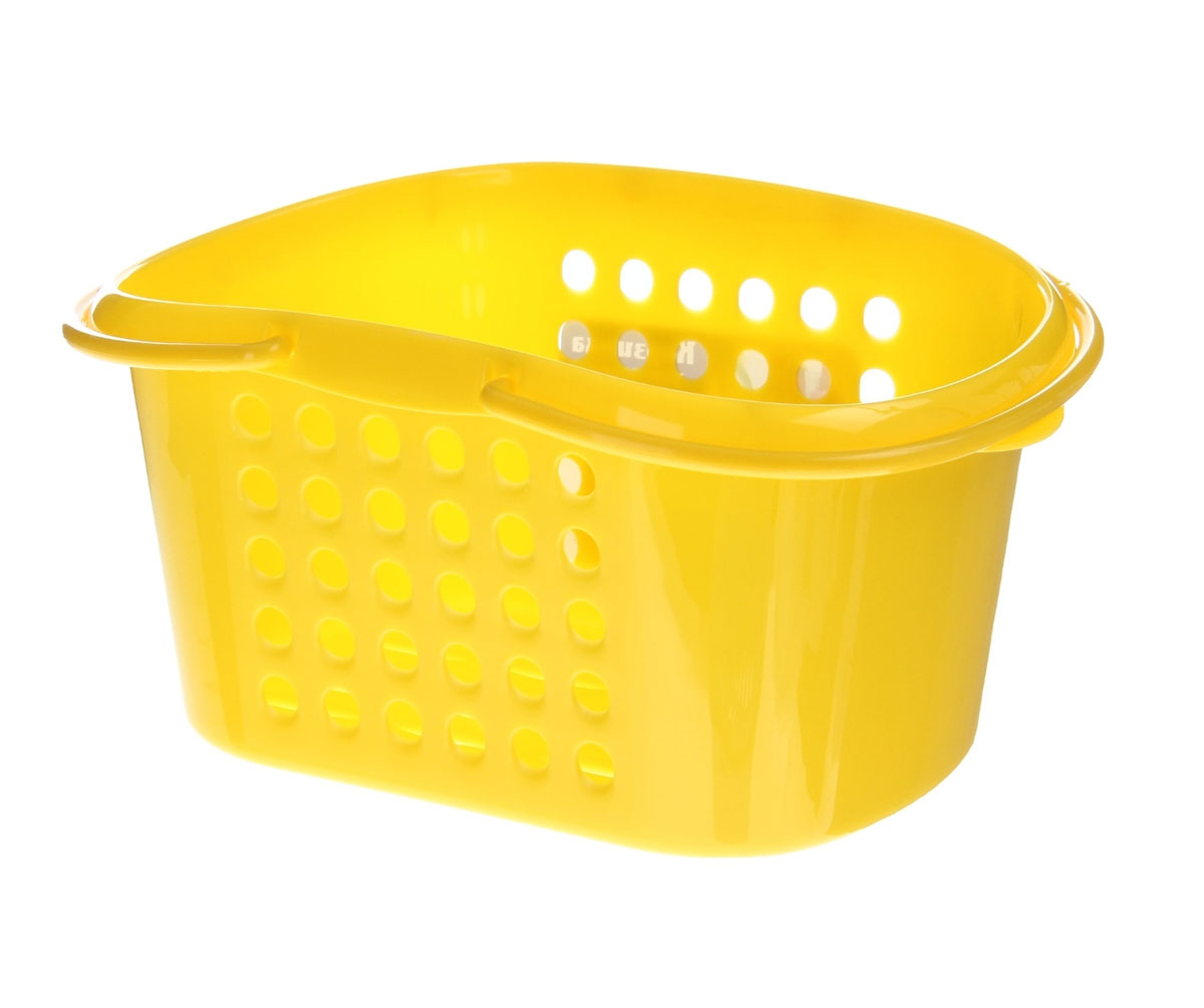 Корзинка универсальная Бытпласт, с ручками, цвет: желтый, 23 см х 17,5 см х 11,5 смRG-D31SУниверсальная корзинка Бытпласт изготовлена из высококачественного пищевого пластика и предназначена для хранения и транспортировки вещей. Корзинка подойдет как для пищевых продуктов, так и для ванных принадлежностей и различных мелочей. Изделие оснащено двумя ручками для более удобной транспортировки. Основание и стенки корзинки оформлены перфорацией, что обеспечивает естественную вентиляцию. Универсальная корзинка Бытпласт позволит вам хранить вещи компактно и с удобством. Размер корзинки: 23 см х 17,5 см х 11,5 см.