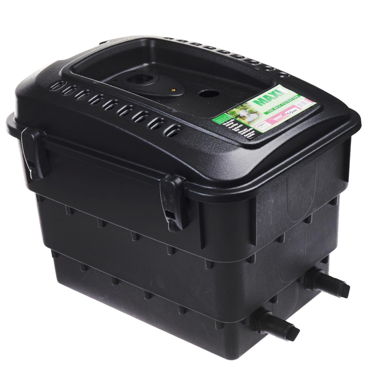 Фильтр для декоративного пруда Aquael. MAXI-1FS-91909Фильтр для декоративного пруда Aquael является наружным фильтром. Его можно размещать на берегу пруда или на водопаде. Работает совместно с насосом Aquajet PFN. Такой фильтр обеспечивает механическую и биологическую очистку водоема. Рассчитан на непрерывную работу и приспособлен к работе как в полностью погруженном состоянии, так и в наружном положении. Максимальный объем: 10 м3. Размер фильтра: 50 см х 38 см х 40 см.