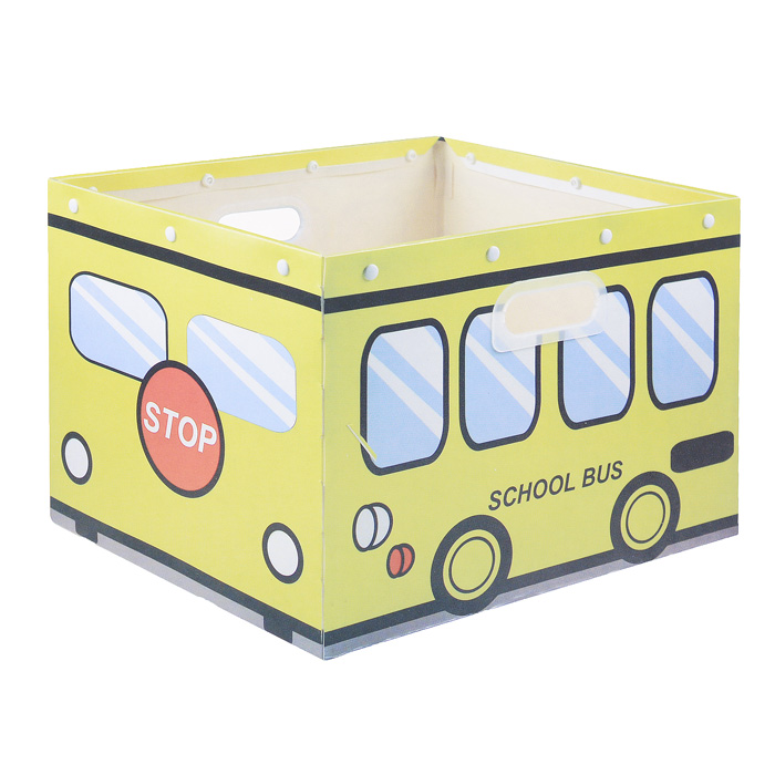 "Коробка для хранения ""House & Holder"", цвет: желтый, 38 см х 30 см х 27 см"