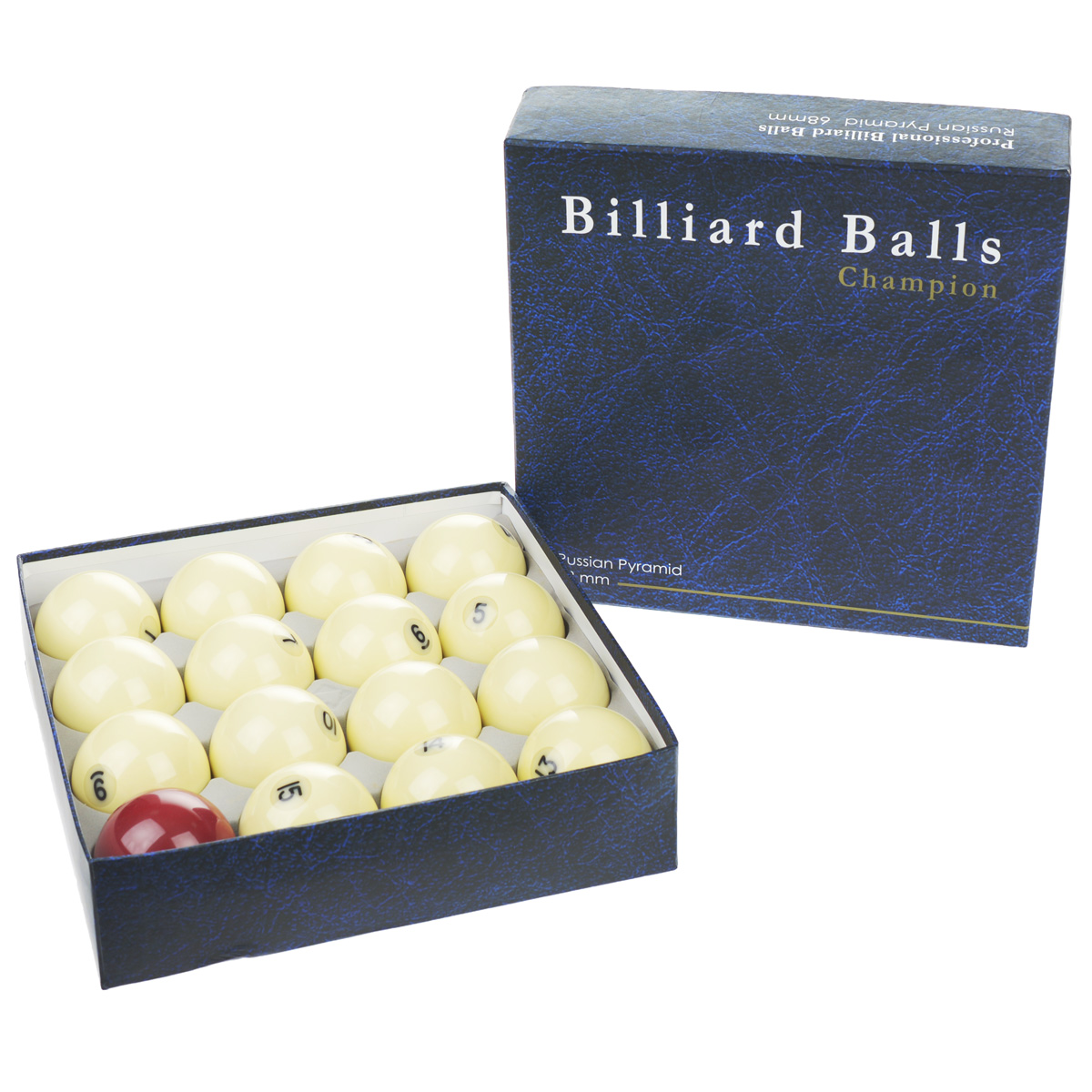 Бильярдные шары Champion Pyramid Pro, 68 мм