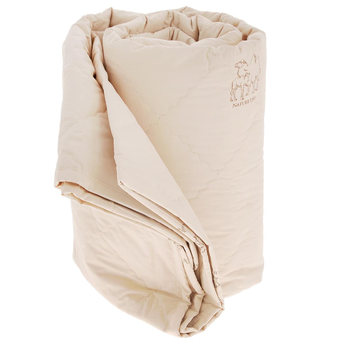 Одеяло La Prima Верблюжья шерсть, наполнитель: верблюжья шерсть, полиэфирное волокно, цвет: темно-бежевый, 170 х 205 смV30 AC DCОдеяло La Prima Верблюжья шерсть - это выбор тех, кто заботится о своем здоровье, поскольку оно отличается не только теплотой и мягкостью, но и своими целебными свойствами. Чехол выполнен из 100% хлопка. Наполнитель - с натуральной верблюжьей шерстью. Одеяло из верблюжьей шерсти подарит вам абсолютный комфорт во время сна, так как оказывает положительное влияние на организм человека. Оно создает эффект сухого тепла, прогревая мышцы и суставы, успокаивает и снимает усталость. Одеяло из верблюжьей шерсти теплее, прочнее и при одинаковом объеме значительно легче овечьей шерсти. Оно гипоаллергенно и рекомендовано для профилактики и лечения многих заболеваний. Материал чехла: 100% хлопок. Наполнитель: верблюжья шерсть, полиэфирное волокно. Размер: 170 см х 205 см.