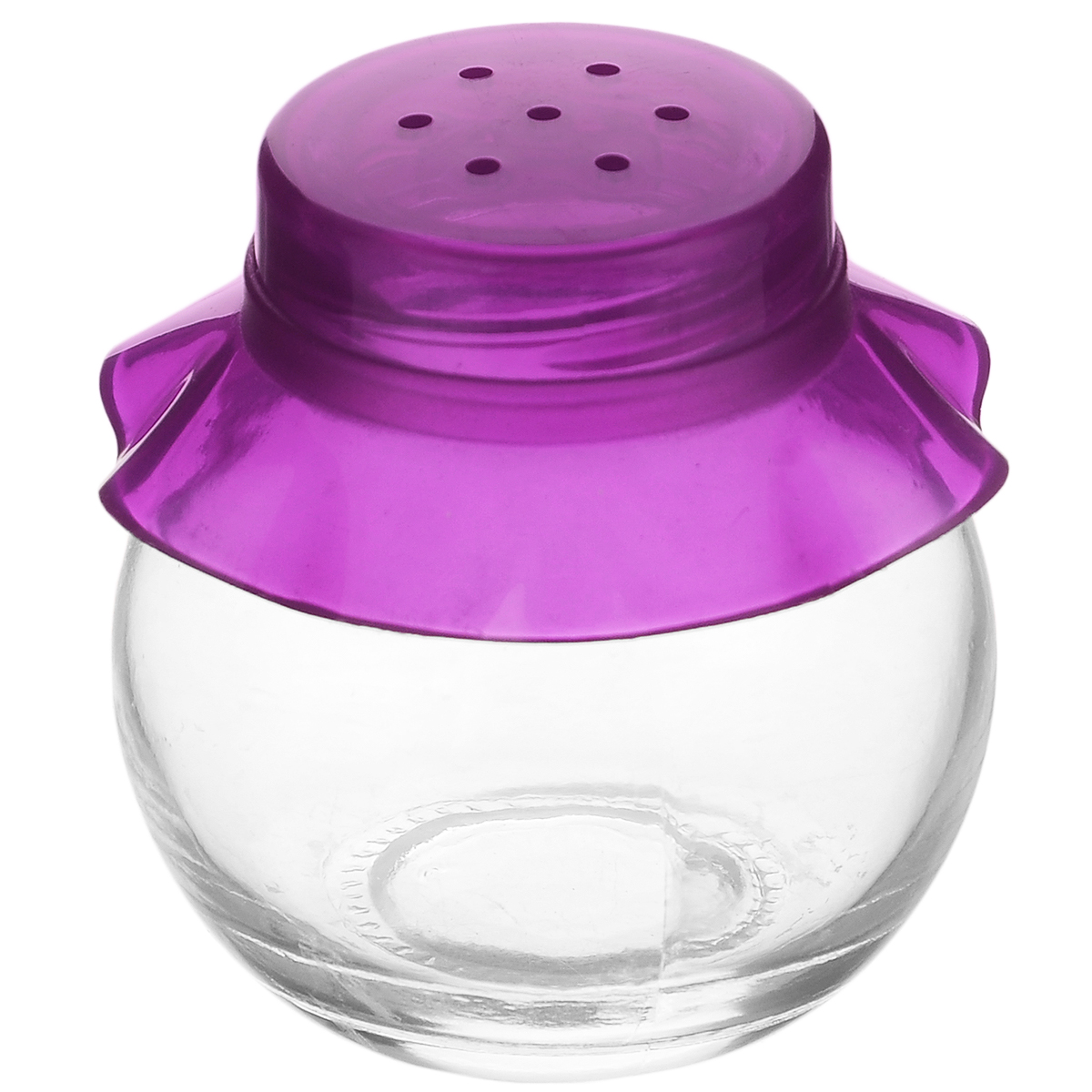 Банка для специй Herevin, цвет: фиолетовый, 60 мл. 121051-0001407-111Банка для специй Herevin выполнена из прозрачного стекла и оснащена пластиковой цветной крышкой с отверстиями, благодаря которым, вы сможете приправить блюда, просто перевернув банку. Крышка легко откручивается, благодаря чему засыпать приправу внутрь очень просто. Такая баночка станет достойным дополнением к вашему кухонному инвентарю. Можно мыть в посудомоечной машине.Объем: 60 мл.Диаметр (по верхнему краю): 2,5 см.Высота банки (без учета крышки): 5,5 см.
