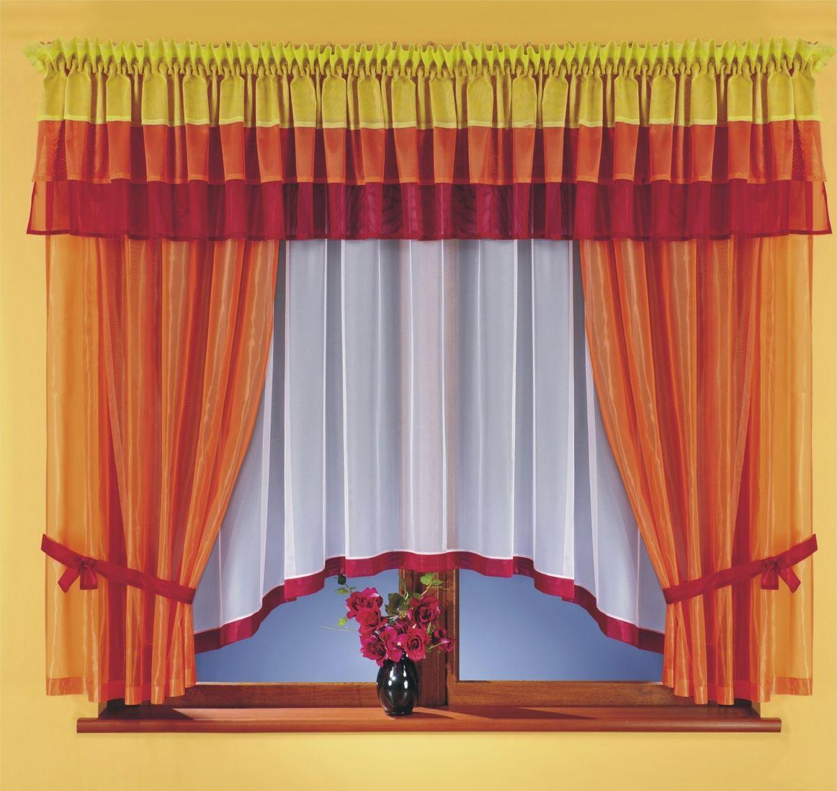 Комплект штор WISAN 400*170+140*170*2+500*50. 5761100-49000000-60Комплект штор WISAN 400*170+140*170*2+500*50. 5761Материал: 100% п/э, размер: 400*170+140*170*2+500*50, цвет: оранжевый