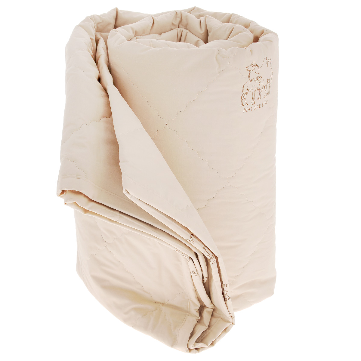 Одеяло La Prima Верблюжья шерсть, наполнитель: верблюжья шерсть, полиэфирное волокно, цвет: темно-бежевый, 200 см х 220 смCLP446Одеяло La Prima Верблюжья шерсть - это выбор тех, кто заботится о своем здоровье, поскольку оно отличается не только теплотой и мягкостью, но и своими целебными свойствами. Чехол выполнен из 100% хлопка. Наполнитель - с натуральной верблюжьей шерстью. Одеяло из верблюжьей шерсти подарит вам абсолютный комфорт во время сна, так как оказывает положительное влияние на организм человека. Оно создает эффект сухого тепла, прогревая мышцы и суставы, успокаивает и снимает усталость. Одеяло из верблюжьей шерсти теплее, прочнее и при одинаковом объеме значительно легче овечьей шерсти. Оно гипоаллергенно и рекомендовано для профилактики и лечения многих заболеваний. Материал чехла: 100% хлопок. Наполнитель: верблюжья шерсть, полиэфирное волокно.