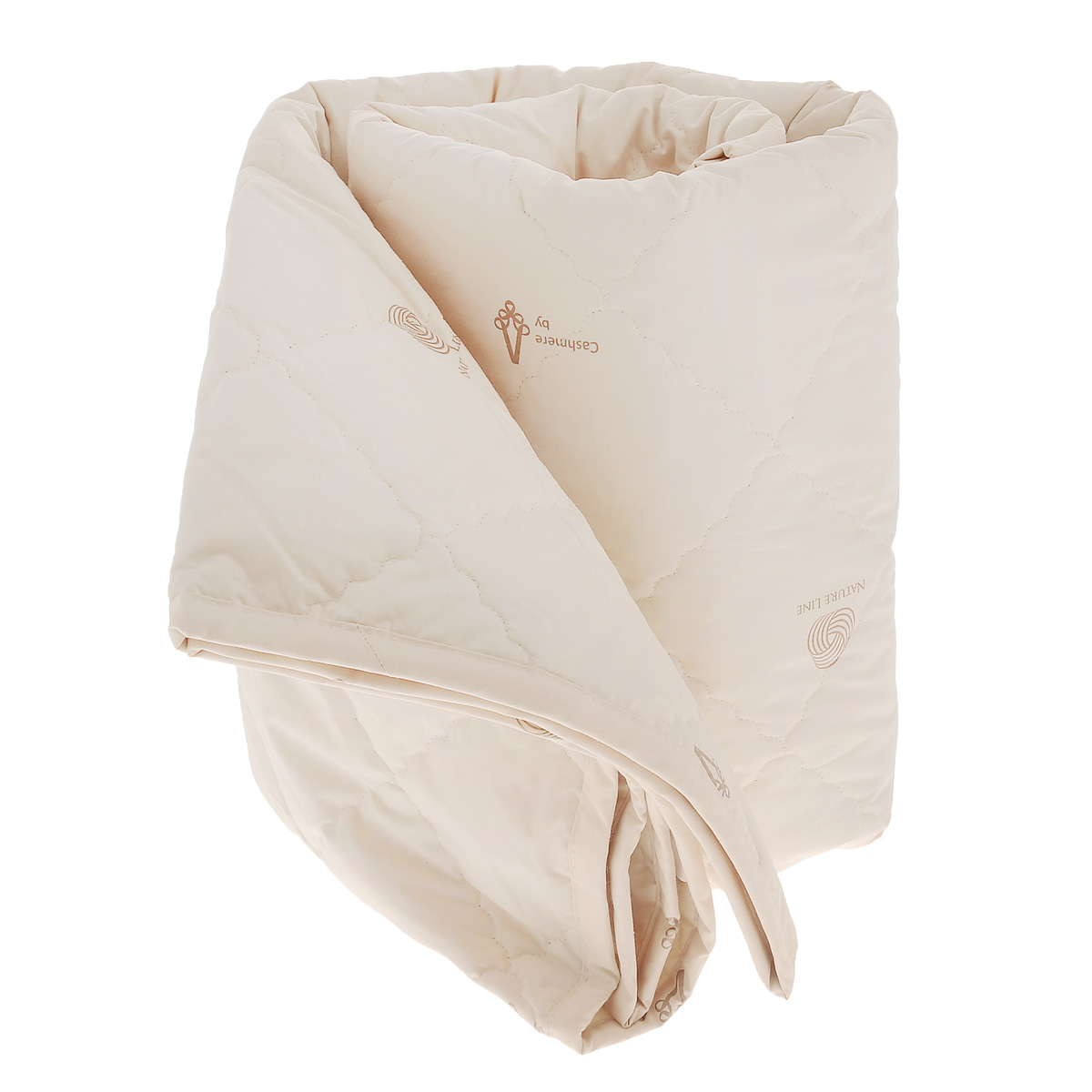 Одеяло La Prima Кашемир, наполнитель: кашемир, полиэфирное волокно, цвет: светло-бежевый, 140 х 205 см la prima la prima одеяло бамбук всесезонное цвет бежевый 140х205 см