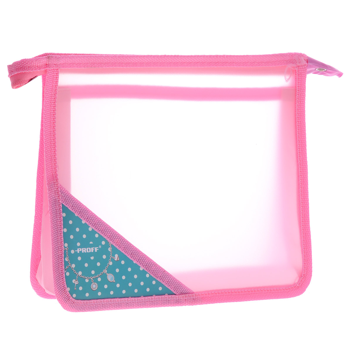 Папка для тетрадей Proff Принцесса, цвет: розовыйPP-220Папка для тетрадей Принцесса поможет не растерять школьнику свои тетради, рисунки и прочие бумаги. Выполнена из прочного полипропилена и имеет два вместительных отделения. На углу лицевой стороны нанесено изображение ожерелья.Папка разделена на два отдела полупрозрачной перегородкой, сверху закрывается на молнию. Края папки окантованы мягкой текстильной тесьмой.