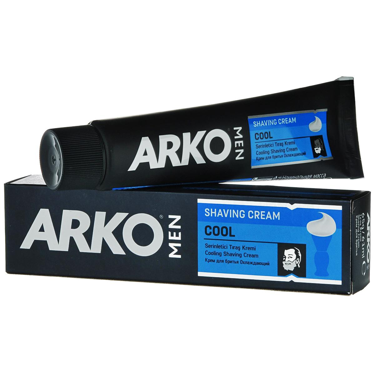 Arko MEN Крем для бритья Cool 65г53124Экономичное традиционное средство для бритья. Благодаря натуральным смягчающим компонентам оказывает увлажняющее и освежающее действие на кожу.