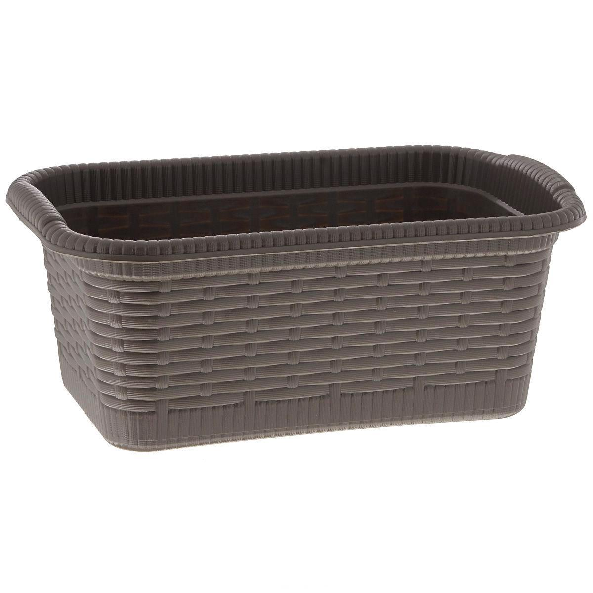 Корзина Gensini Rattan, цвет: коричневый, 3 лБрелок для ключейКорзина Gensini Rattan, изготовленная из прочного пластика, предназначена для хранения мелочей в ванной, на кухне, даче или гараже. Легкая корзина со сплошным дном позволяет хранить мелкие вещи, исключая возможность их потери.