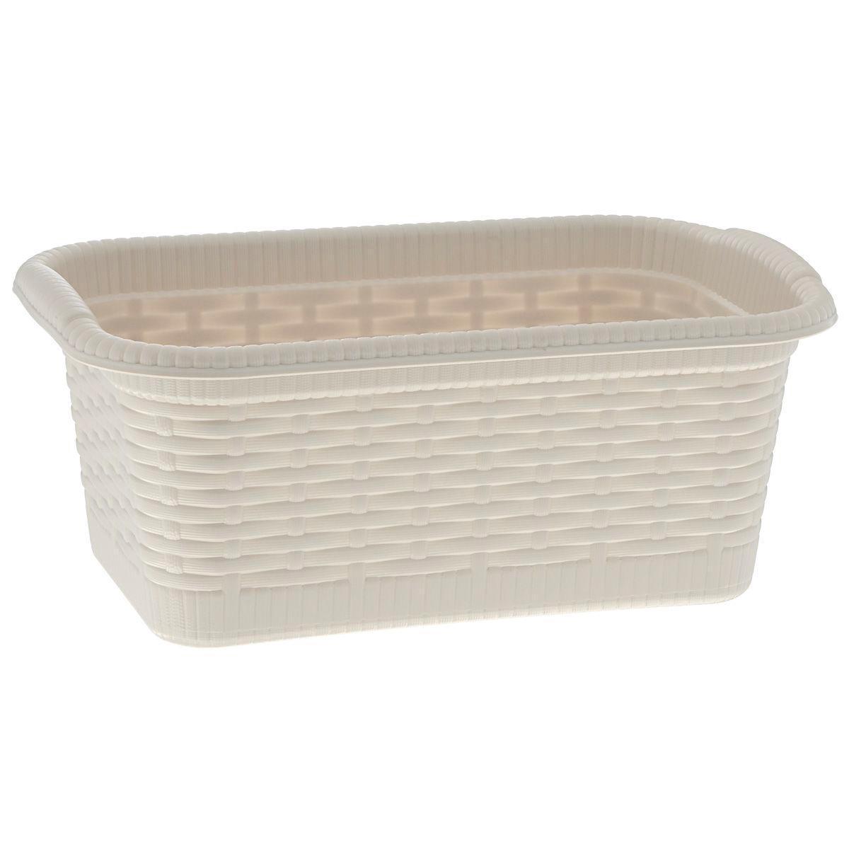 Корзина Gensini Rattan, цвет: светло-бежевый, 3 лRG-D31SКорзина Gensini Rattan, изготовленная из прочного пластика, предназначена для хранения мелочей в ванной, на кухне, даче или гараже. Легкая корзина со сплошным дном позволяет хранить мелкие вещи, исключая возможность их потери.