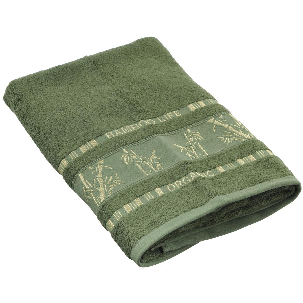 Полотенце Mariposa Bamboo, цвет: темно-зеленый, 70 см х 140 см68/5/1Полотенце Mariposa Bamboo, изготовленное из 60% бамбука и 40% хлопка, подарит массу положительных эмоций и приятных ощущений.Полотенца из бамбука только издали похожи на обычные. На самом деле, при первом же прикосновении вы ощутите невероятную мягкость и шелковистость. Таким полотенцем не нужно вытираться - только коснитесь кожи - и ткань сама все впитает! Несмотря на богатую плотность и высокую петлю полотенца, оно быстро сохнет, остается легким даже при намокании.Полотенце оформлено изображением бамбука. Благородный тон создает уют и подчеркивает лучшие качества махровой ткани. Полотенце Mariposa Bamboo станет достойным выбором для вас и приятным подарком для ваших близких.Размер полотенца: 70 см х 140 см.