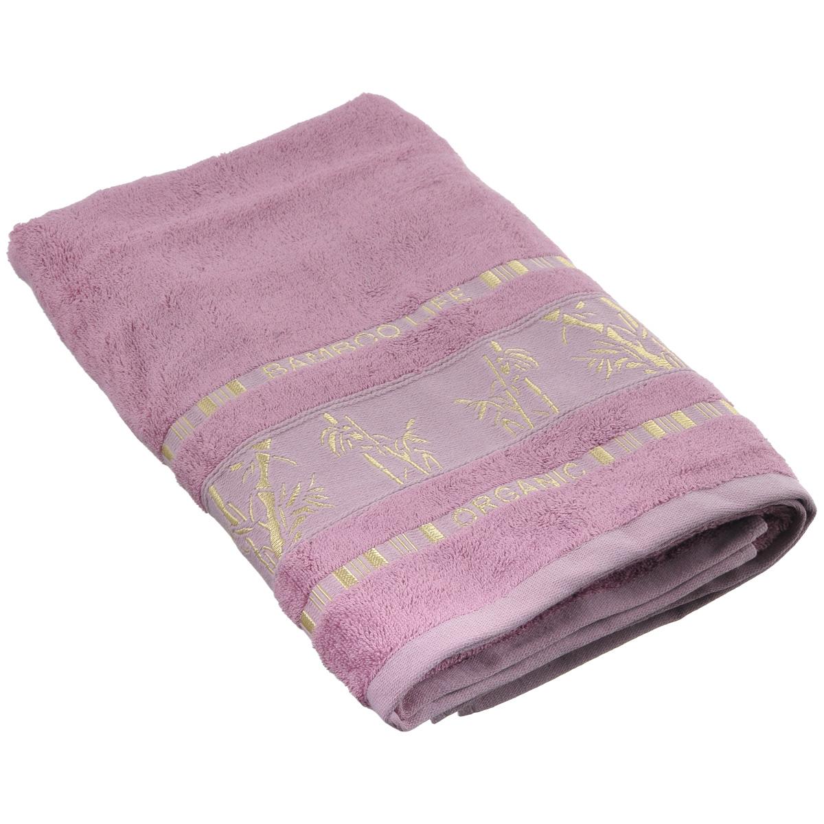 Полотенце Mariposa Bamboo, цвет: темно-розовый, 70 см х 140 см1004900000360Полотенце Mariposa Bamboo, изготовленное из 60% бамбука и 40% хлопка, подарит массу положительных эмоций и приятных ощущений.Полотенца из бамбука только издали похожи на обычные. На самом деле, при первом же прикосновении вы ощутите невероятную мягкость и шелковистость. Таким полотенцем не нужно вытираться - только коснитесь кожи - и ткань сама все впитает! Несмотря на богатую плотность и высокую петлю полотенца, оно быстро сохнет, остается легким даже при намокании.Полотенце оформлено изображением бамбука. Благородный тон создает уют и подчеркивает лучшие качества махровой ткани. Полотенце Mariposa Bamboo станет достойным выбором для вас и приятным подарком для ваших близких.Размер полотенца: 70 см х 140 см.