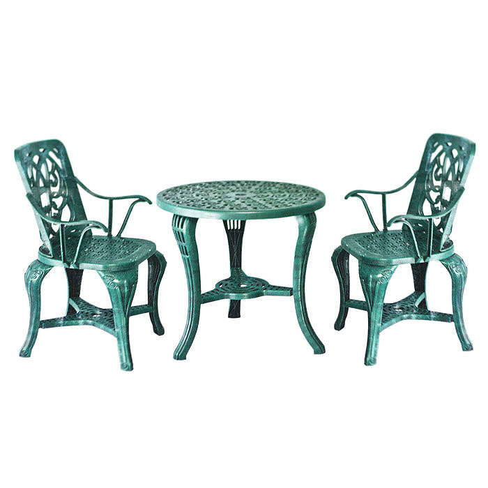 Набор дачной мебели Village People Неповторимость, 3 предметаKOC-H19-LEDКомплект мебели Village People Неповторимость состоит из трех предметов: двух стульев и столика. Изделия выполнены из высококачественного полипропилена. Такая мебель станет украшением небольшого балкона или террасы, найдет свое место в саду. Мебель можно эксплуатироваться под открытым небом в любую погоду. Диаметр стола: 68 см. Высота стола: 67,5 см. Размер стульев: 54,5 см х 50 см х 89 см.
