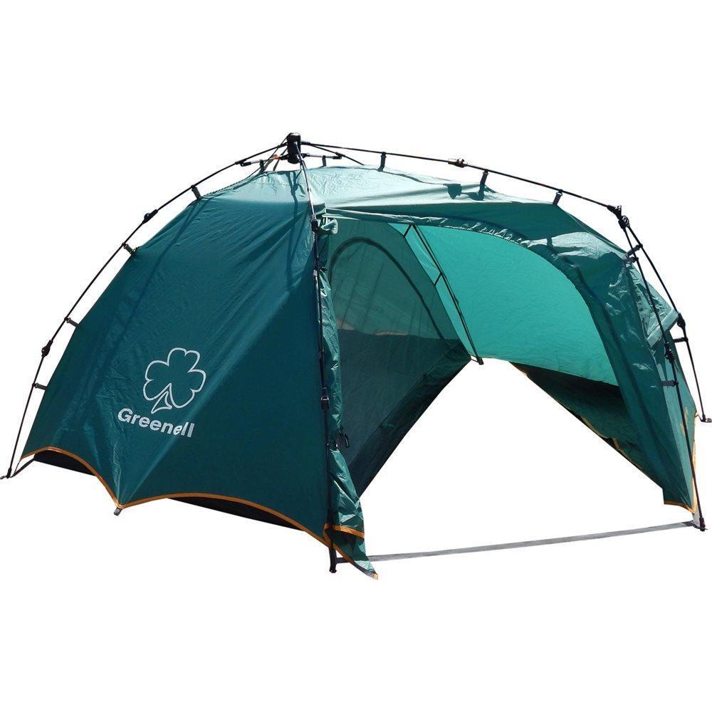 Палатка GREENELL Огрис 2, полувтоматическая, цвет: зеленыйKOC-H19-LEDУдобная двухместная полуавтоматическая палатка Greenell Огрис 2 с большим тамбуром. Специальная конструкция тамбура, позволяет разместить в нем рюкзаки, обувь. Максимальная вентиляция обеспечивается за счет внутренней палатки, которая полностью выполнена из москитной сетки, специального кроя тента и вентиляционных каналов в тенте палатки. Внутри достаточно комфортно находится, есть карманы для мелочей, подвесная полка, кроме того все швы проклеены, и это только усиливают конструкцию. Вместе с данной палаткой можно купить отличный Ремкомплект №1. Только в нашем интернет-магазинеимеетсяогромный выбор автоматических палаток различных размеров и модификаций!Технические характеристики:Вместимость (человек): 2 Материалы каркаса: Fiberglass 8,5 мм Ткань тента: Poly Taffeta 190T PU 3000Ткань пола: TarpaulingВодостойкость тента (мм/в.ст.): 3 000 Габаритные размеры сумки: 77 х 20 х 20Размеры внешней палатки (ДхШхВ): 255 x 225 x 115 см Размеры внутренней палатки (ДхШхВ): 205 x 140 см