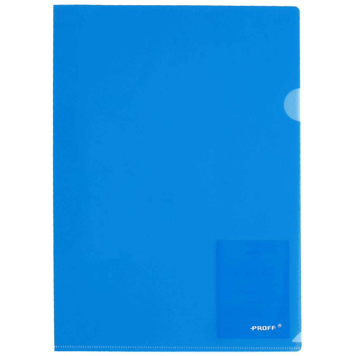 Proff Папка-уголок Alpha цвет синийFS-36052Папка-уголок Proff Alpha, изготовленная из высококачественного полипропилена - это удобный и практичный офисный инструмент, предназначенный для хранения и транспортировки рабочих бумаг и документов формата А4. Полупрозрачная глянцевая папка имеет опрятный и неброский вид. Папка-уголок - это незаменимый атрибут для студента, школьника, офисного работника. Такая папка надежно сохранит ваши документы и сбережет их от повреждений, пыли и влаги.