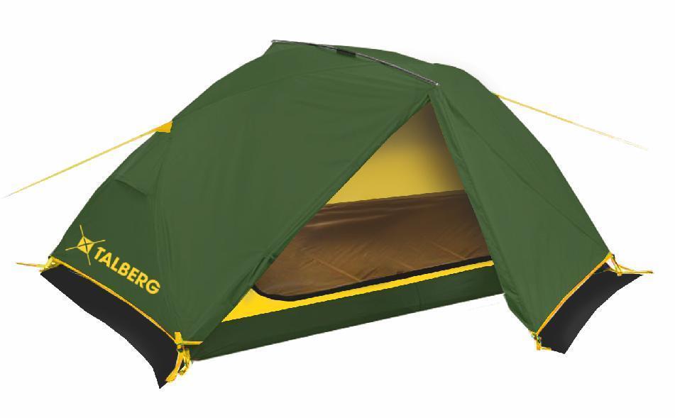 Палатка Talberg BORNEO PRO 2, цвет: зеленыйУТ-000059361Легкая двухслойная двухместная палатка с дополнительной верхней выносной дугой, увеличивающей объем тамбуров.Палатки Talberg профессиональной линии были специально разработаны для походов в весеннее, летнее и осеннее время. В палатках этой серии используются материалы и конструкции, которые позволяют комфортно провести теплую летнюю ночь или переждать серьезную непогоду с сильным ветром и осадками. Состав материала: полиэстер, алюминий
