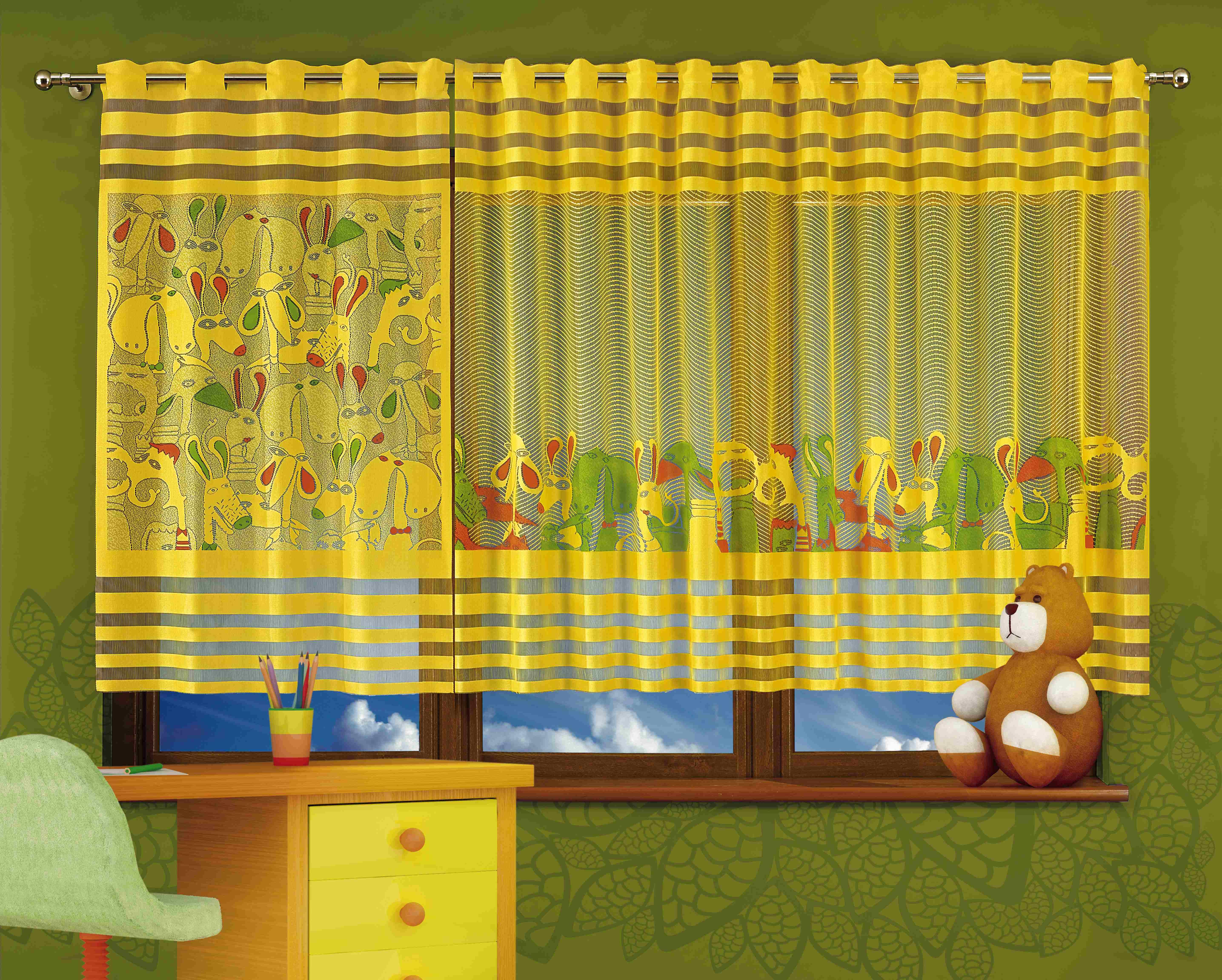 Гардина WISAN 280*160+100*160. 666А+667А88825Гардина WISAN 280*160+100*160. 666А+667АМатериал: 100% п/э, размер: 280*160+100*160, цвет: желтый