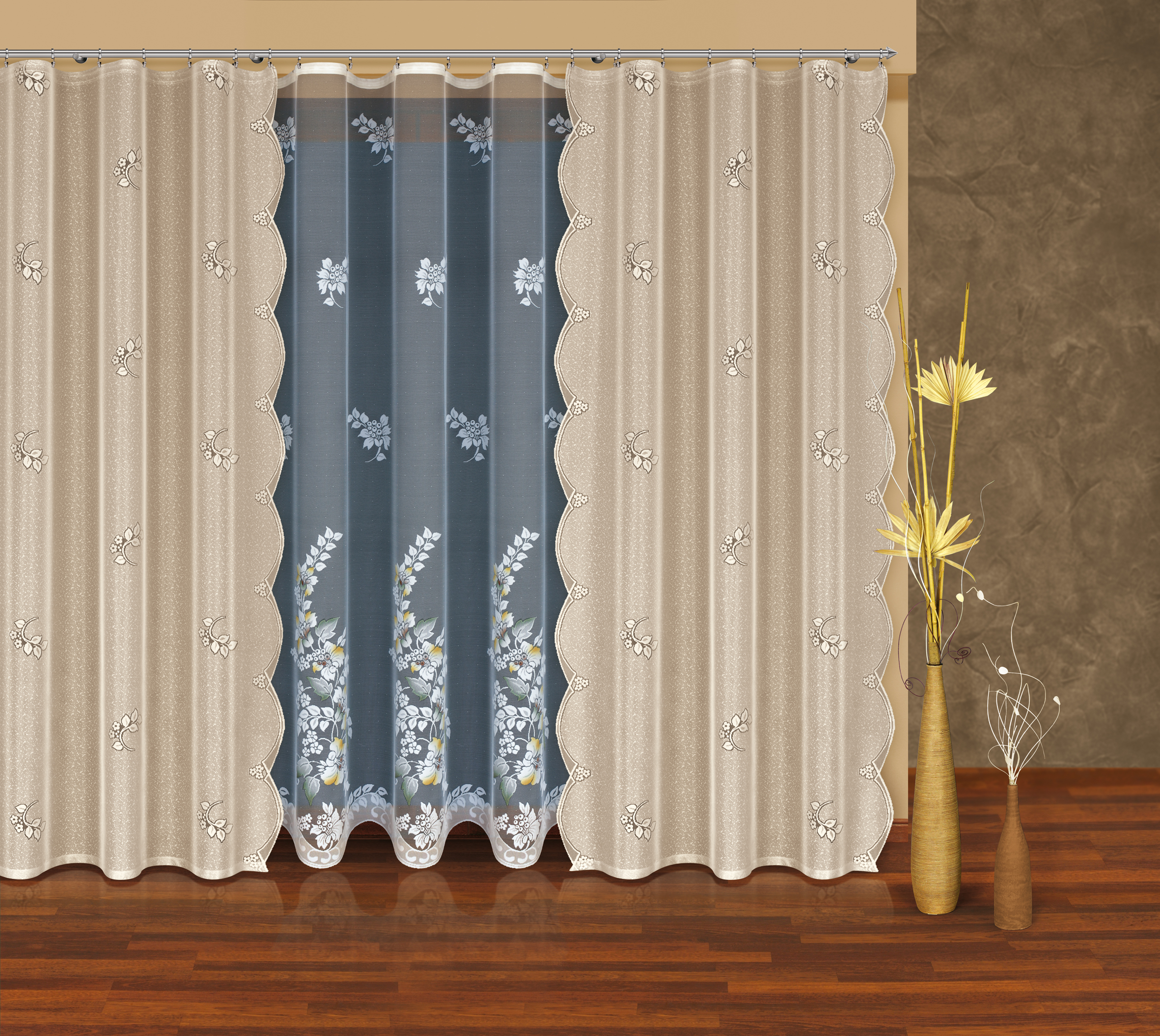 Комплект штор HAFT 250*500+250*145*2. 203940/250GC013/00Комплект штор XAFT 250*500+250*145*2. 203940/250Материал: 100% п/э, размер: 250*500+250*145*2, цвет: серый