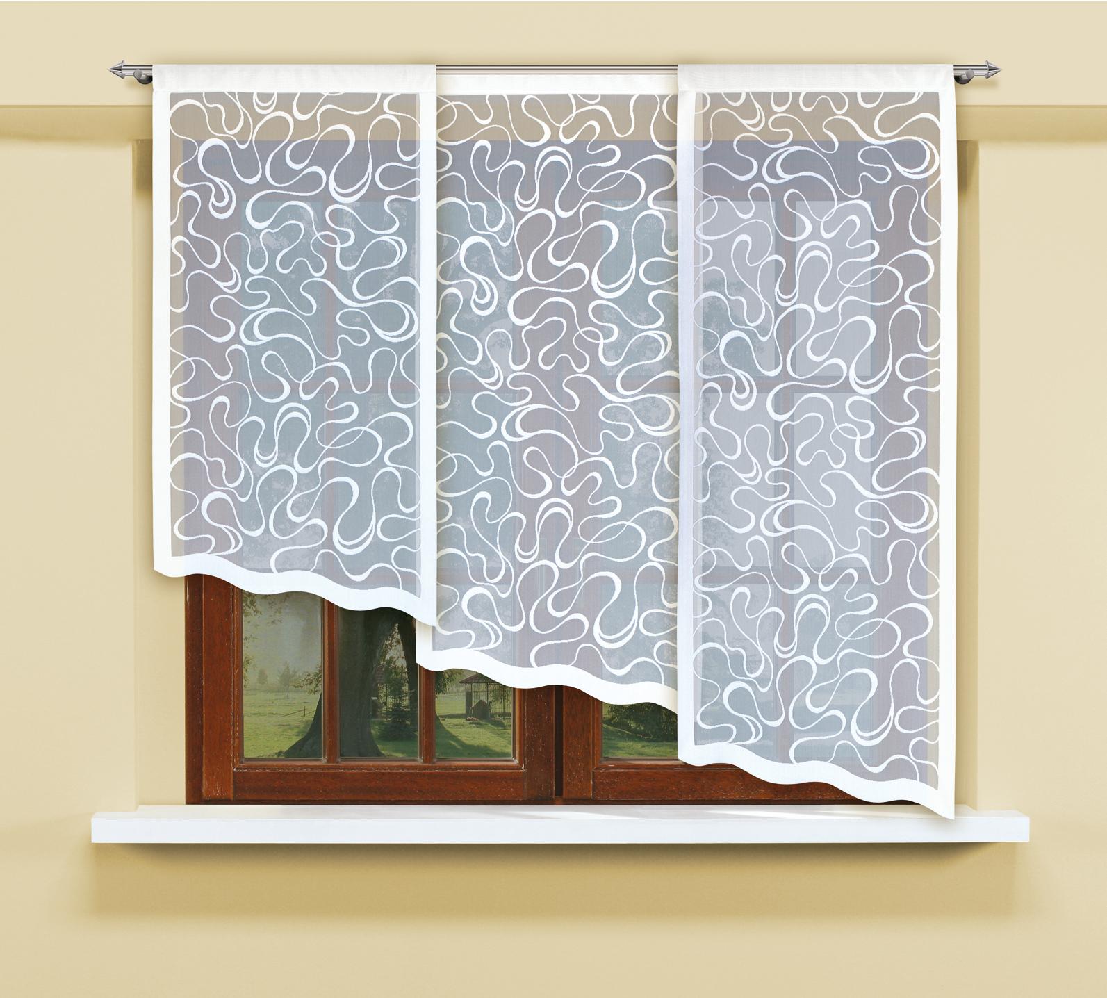 Комплект гардин Haft, на кулиске, цвет: белый, 3 шт. 207750SATURN CANCARDВоздушные гардины Haft великолепно украсят любое окно. Комплект состоит из трех гардин, выполненных из полиэстера.Изделие имеет оригинальный дизайн и органично впишется в интерьер помещения.Комплект крепится на карниз при помощи кулиски.Размеры гардин: 160 х 60 см; 140 х 60 см; 120 х 60 см.