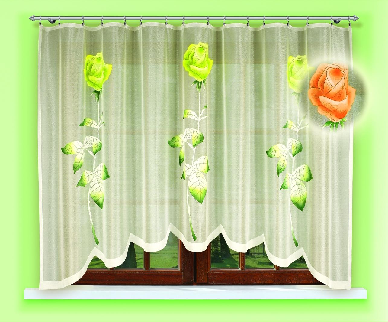 Гардина Haft, цвет: зеленый, 160 х 300. 54550/160 зеленыйDAVC150Гардина Haft изготовленная из полиэстера, станет изюминкой интерьера вашей комнаты.