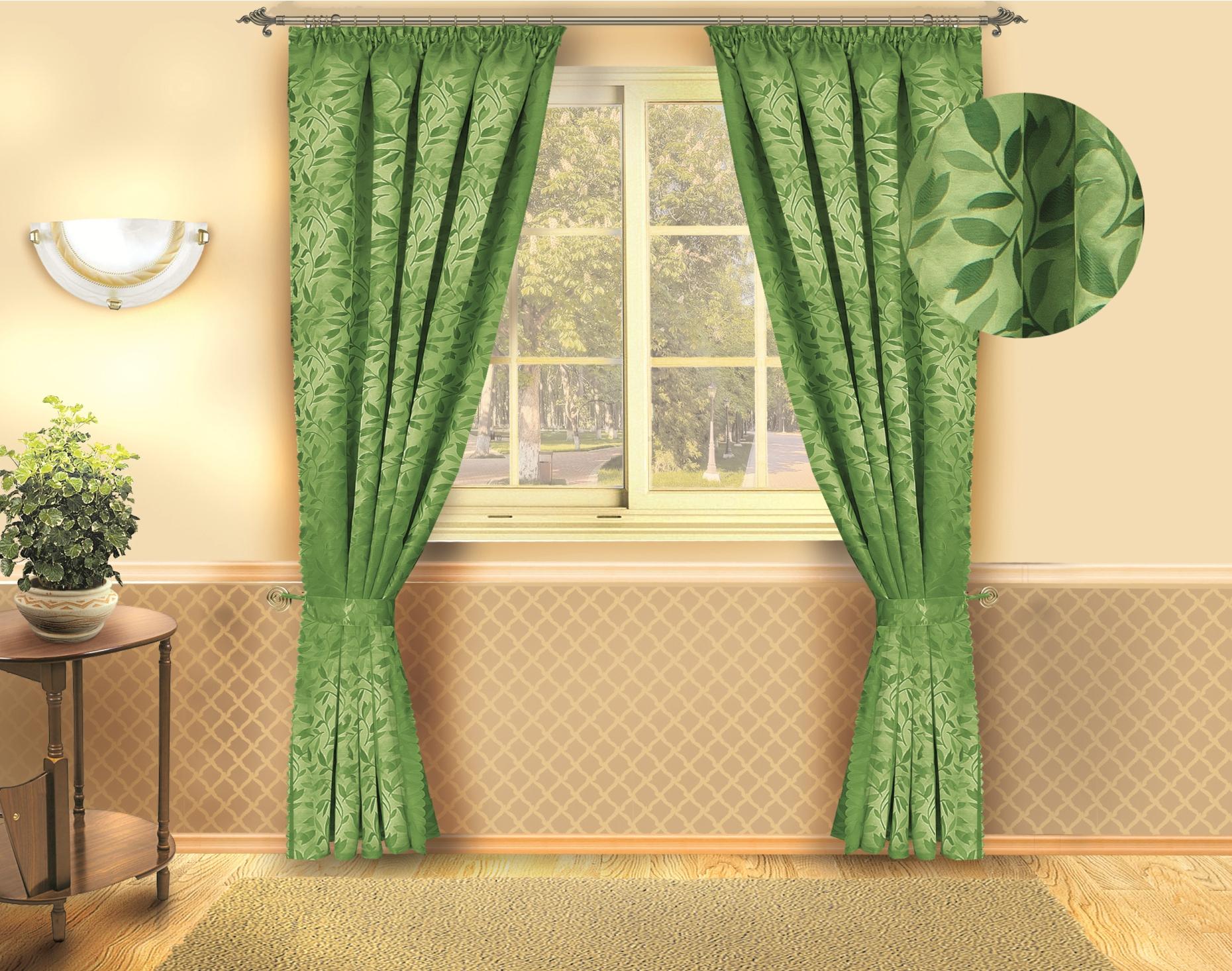 Комплект штор Zlata Korunka, цвет: зеленый, высота 250 см. Б132DAVC150Роскошный комплект штор Zlata Korunka, выполненный из полиэстера, великолепно украсит любое окно. Комплект состоит из двух штор. Изящный растительный рисунок и приятная цветовая гамма привлекут к себе внимание и органично впишутся в интерьер помещения.Этот комплект будет долгое время радовать вас и вашу семью!В комплект входит: Штора: 2 шт. Размер (Ш х В): 140 см х 250 см.