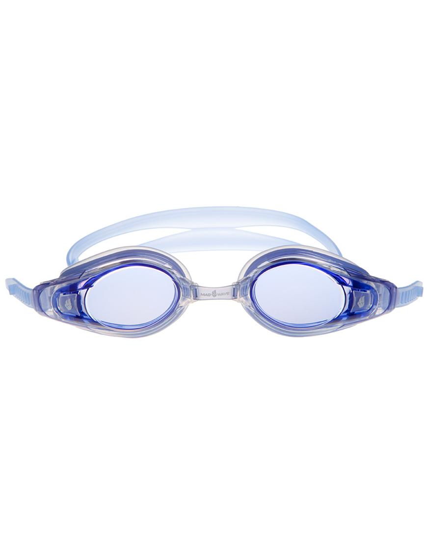 Очки для плавания с диоптриями MadWave Optic Envy Automatic, цвет: синий, -1,5 шапочка для плавания madwave madwave ma991dkiwh88