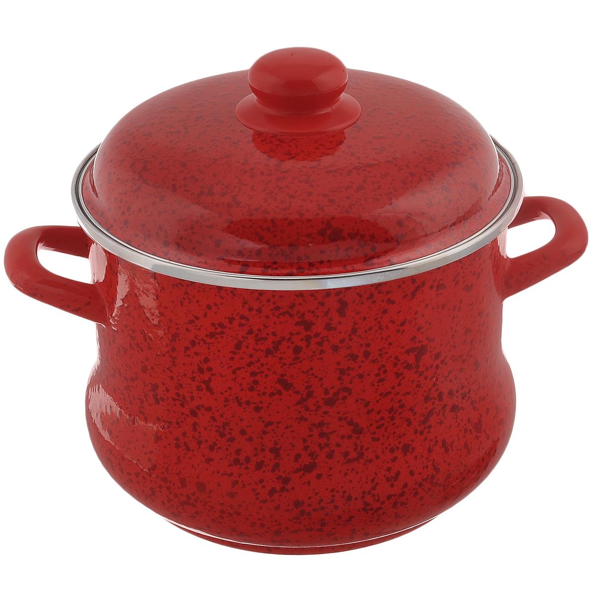 Кастрюля эмалированная Мetrot Рубин, с крышкой, цвет: красный, 5 лFS-91909Кастрюля Мetrot Рубин оригинальной формы Эмина, с расширенными стенками внизу, изготовлена из стали с красным эмалированным покрытием. Внешние стенки оформлены деколью под рубиновый камень. Эмаль инертна и устойчива к пищевым кислотам, не вступает во взаимодействие с продуктами и не искажает их вкусовые качества. Эмалевое покрытие, являясь стекольной массой, не вызывает аллергию и надежно защищает пищу от контакта с металлом. Кроме того, такое покрытие долговечно, оно устойчиво к механическому воздействию, не царапается и не сходит, а стальная основа практически не подвержена механической деформации, благодаря чему срок эксплуатации увеличивается. Кастрюля оснащена двумя удобными ручками и крышкой из стали. Крышка с ободом плотно прилегает к краю кастрюли, предотвращая проливание жидкости и сохраняя аромат блюд.Изделие подходит для всех типов плит, включая индукционные. Можно мыть в посудомоечной машине. Кастрюля Мetrot Рубин - это идеальный подарок для современных хозяек, которые следят за своим здоровьем и здоровьем своей семьи. Эргономичный дизайн и функциональность позволят вам наслаждаться процессом приготовления любимых, полезных для здоровья блюд. Объем: 5 л. Диаметр: 21 см. Высота стенки: 15,5 см.