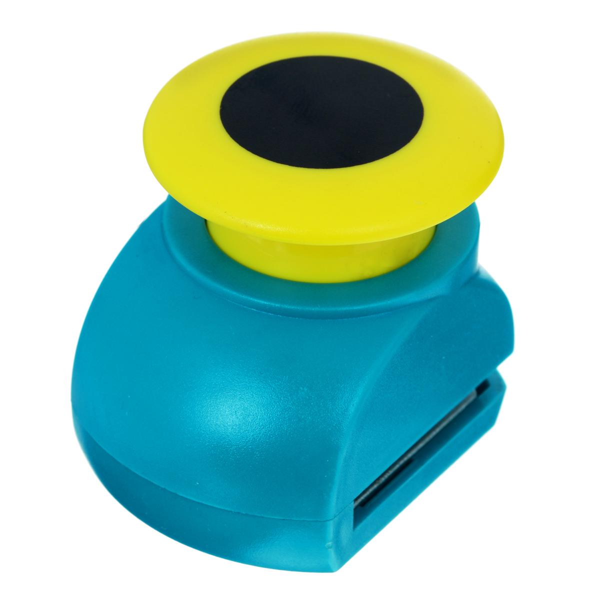 Дырокол фигурный Астра Круг, цвет: бирюзовый, желтый. JF-823CFS-36052Дырокол Астра Круг поможет вам легко, просто и аккуратно вырезать много одинаковых мелких фигурок.Режущие части компостера закрыты пластмассовым корпусом, что обеспечивает безопасность для детей. Можно использовать вырезанные мотивы как конфетти или для наклеивания. Дырокол подходит для разных техник: декупажа, скрапбукинга, декорирования.Размер дырокола: 5 см х 4 см х 5 см.Диаметр вырезанной фигурки: 2,5 см.