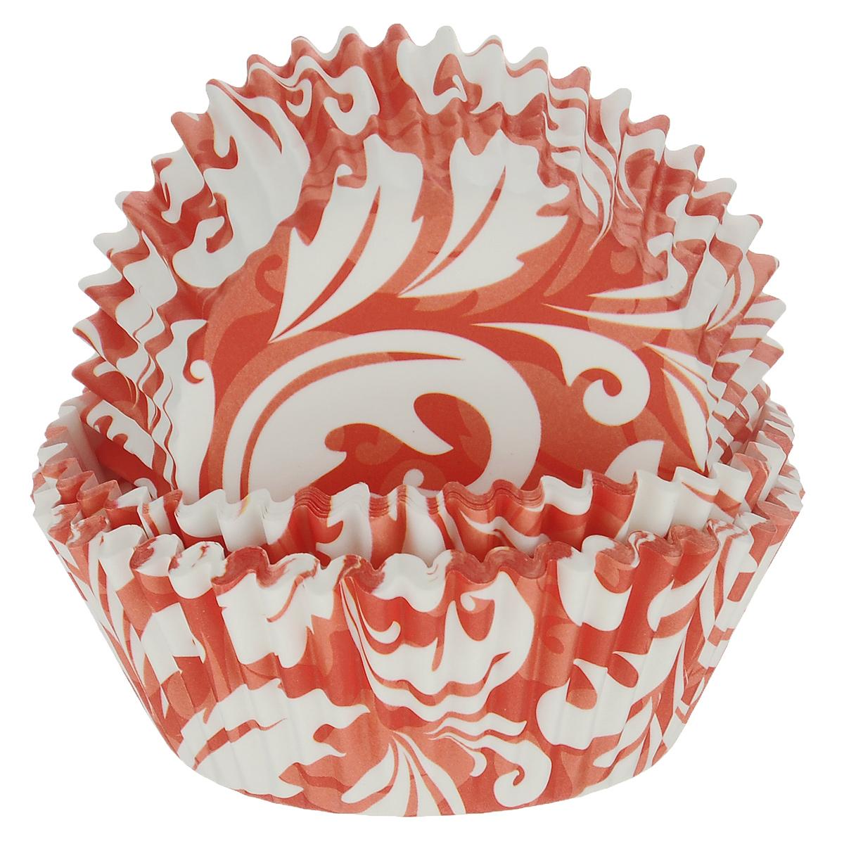 Набор бумажных форм для кексов Dolce Arti Красный узор, цвет: красный, белый, диаметр 7 см, 50 штDA080202Набор Dolce Arti Красный узор состоит из 50 бумажных форм для кексов, оформленных оригинальным узором. Они предназначены для выпечки и упаковки кондитерских изделий, также могут использоваться для сервировки орешков, конфет и много другого. Для одноразового применения. Гофрированные бумажные формы идеальны для выпечки кексов, булочек и пирожных.Высота стенки: 3 см. Диаметр (по верхнему краю): 7 см.