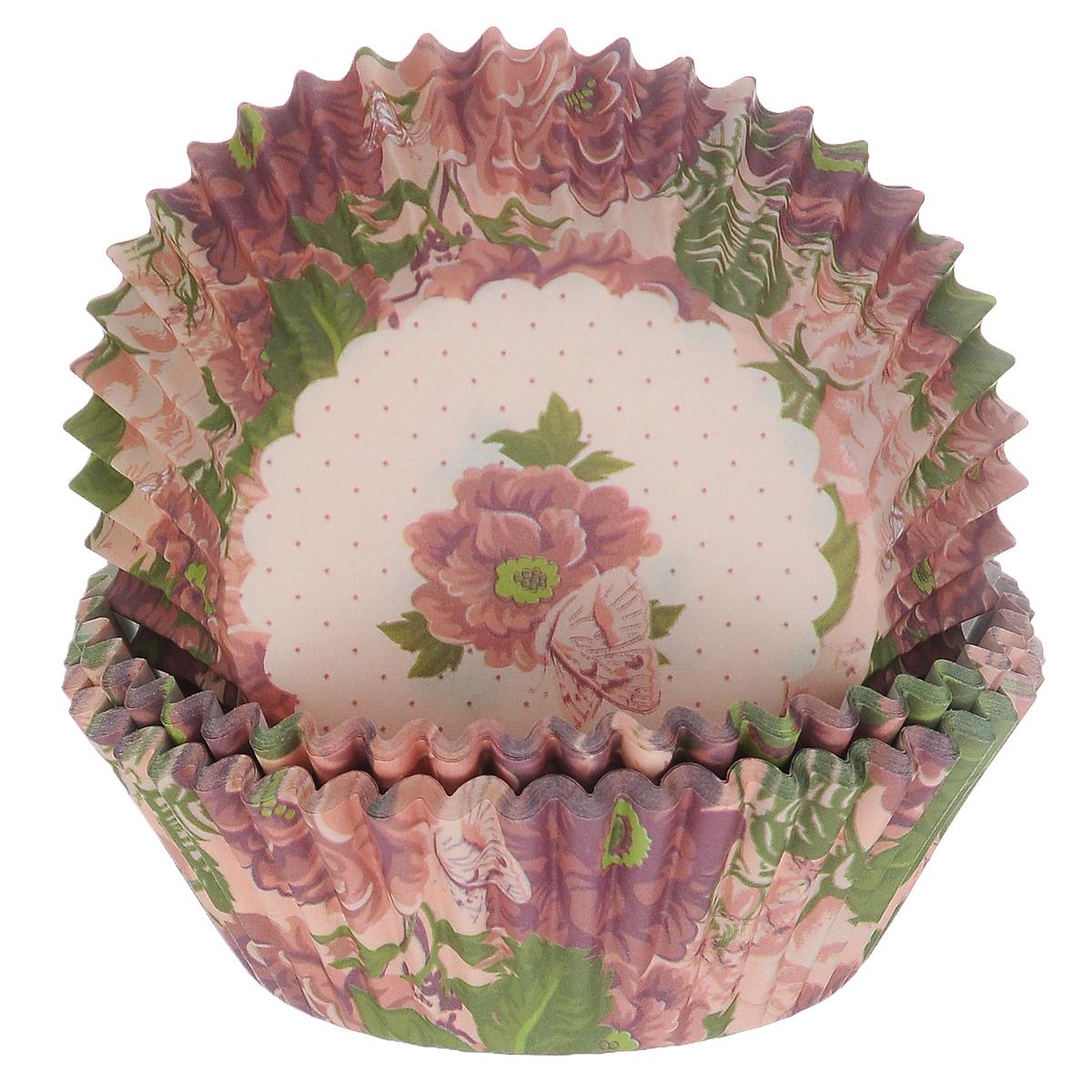 Набор бумажных форм для кексов Dolce Arti Букет, цвет: сиреневый, розовый, диаметр 5 см, 50 штDA080212Набор Dolce Arti Букет состоит из 50 бумажных форм для кексов, оформленных красочным цветочным изображением. Они предназначены для выпечки и упаковки кондитерских изделий, также могут использоваться для сервировки орешков, конфет и многого другого. Для одноразового применения. Гофрированные бумажные формы идеальны для выпечки кексов, булочек и пирожных.Высота стенки: 3 см. Диаметр (по верхнему краю): 7 см.