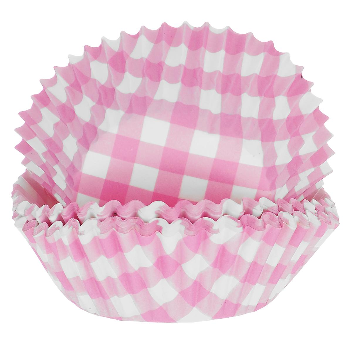 Набор бумажных форм для кексов Dolce Arti Клетка, цвет: розовый, диаметр 5 см, 50 шт94672Набор Dolce Arti Клетка состоит из 50 бумажных форм для кексов, оформленных принтом в клетку. Они предназначены для выпечки и упаковки кондитерских изделий, также могут использоваться для сервировки орешков, конфет и много другого. Для одноразового применения. Гофрированные бумажные формы идеальны для выпечки кексов, булочек и пирожных.Высота стенки: 3 см. Диаметр (по верхнему краю): 7 см.