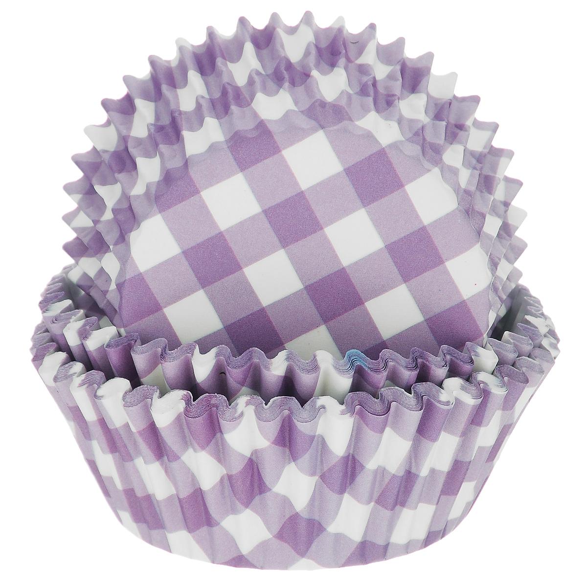 Набор бумажных форм для кексов Dolce Arti Клетка, цвет: фиолетовый, диаметр 7 см, 50 штFS-91909Набор Dolce Arti Клетка состоит из 50 бумажных форм для кексов, оформленных принтом в клетку. Они предназначены для выпечки и упаковки кондитерских изделий, также могут использоваться для сервировки орешков, конфет и много другого. Для одноразового применения. Гофрированные бумажные формы идеальны для выпечки кексов, булочек и пирожных.Высота стенки: 3 см. Диаметр (по верхнему краю): 7 см.