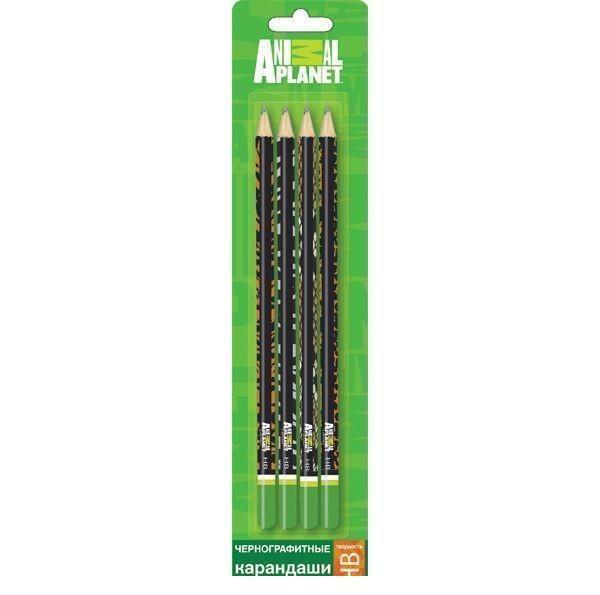Набор карандашей чернографитных ANIMAL PLANET 4 шт., HB, заточ., блистер c е/по2010440Удобные и заточенные карандаши. Твердость – НВ. В блистере с европодвесом. По доступной цене. Понравятся вашему ребенку.