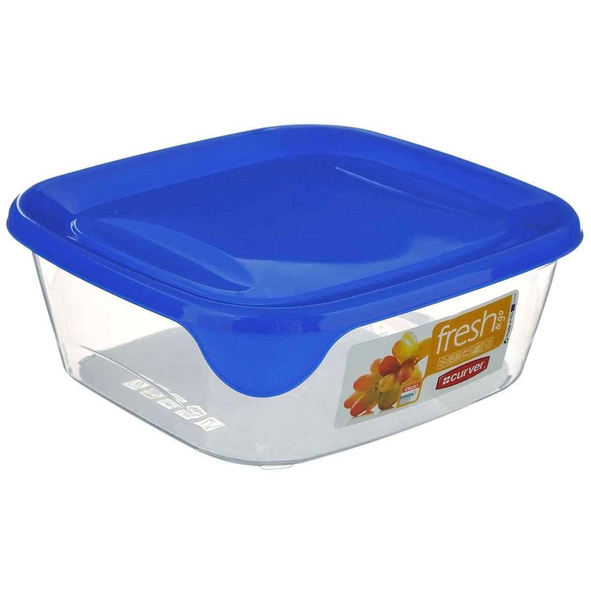 Емкость для заморозки и СВЧ Curver Fresh & Go, цвет: синий, 0,8 лVT-1520(SR)Квадратная емкость для заморозки и СВЧ Curver изготовлена из высококачественного пищевого пластика (BPA free), который выдерживает температуру от -40°С до +100°С. Стенки емкости прозрачные, а крышка цветная. Она плотно закрывается, дольше сохраняя продукты свежими и вкусными. Емкость удобно брать с собой на работу, учебу, пикник или просто использовать для хранения пищи в холодильнике. Можно использовать в микроволновой печи и для заморозки в морозильной камере. Можно мыть в посудомоечной машине.