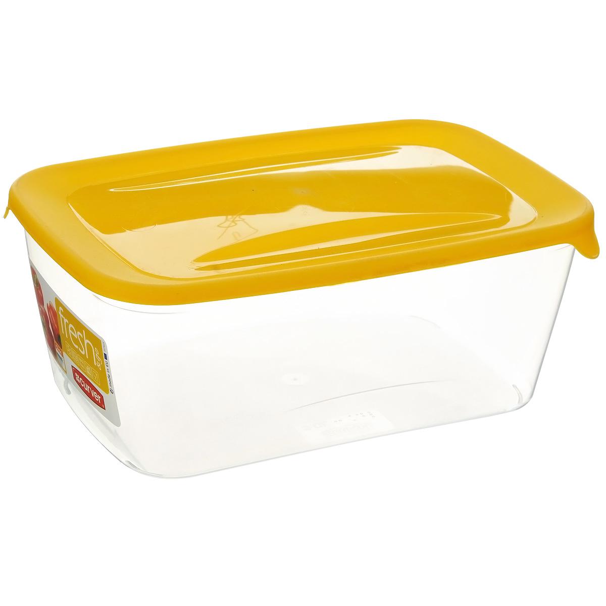 Емкость для заморозки и СВЧ Curver Fresh & Go, цвет: желтый, 3 л емкость для заморозки и свч curver fresh