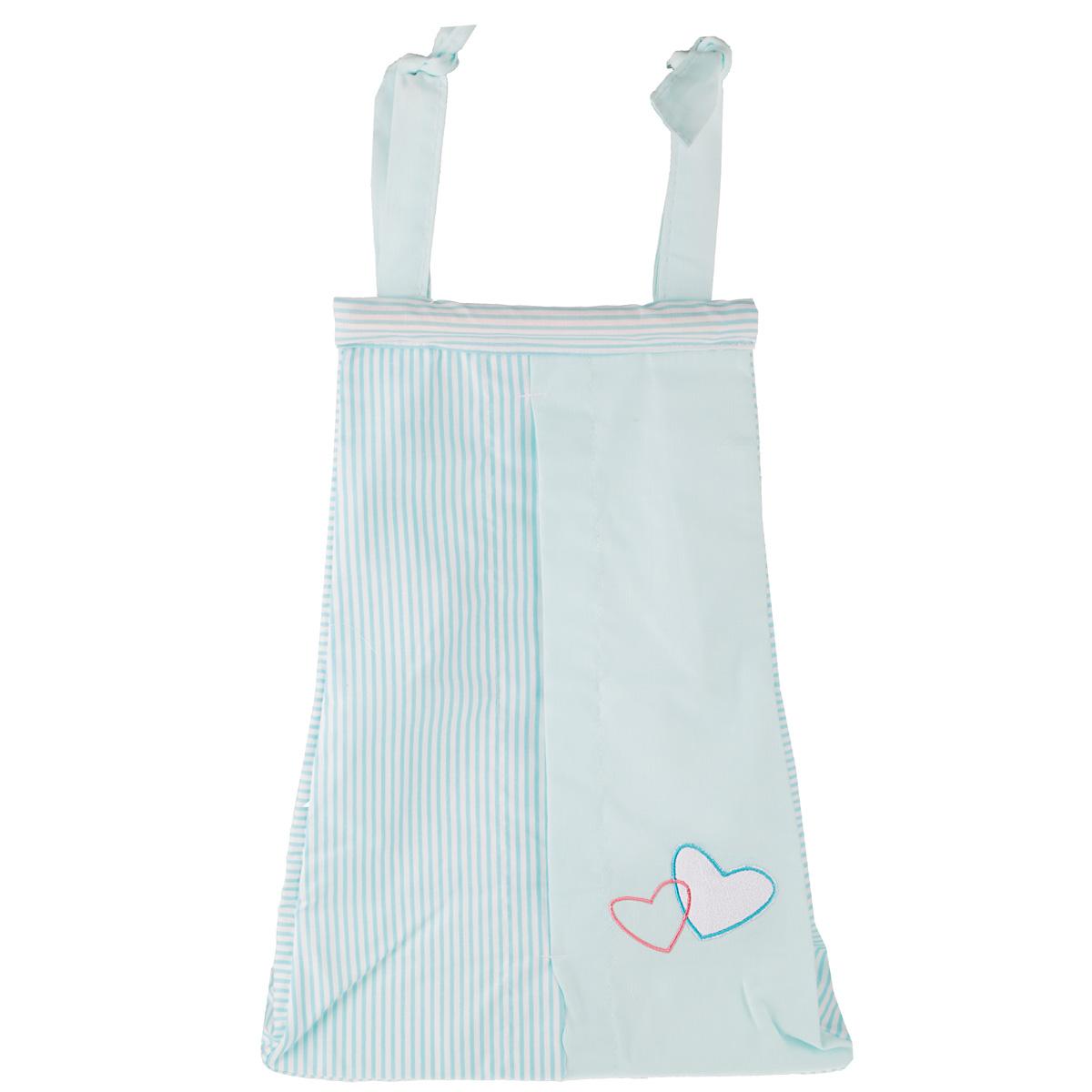 Сумка для пеленок и подгузников Fairy Жирафик, цвет: голубой, 50 см х 40 см fairy сумка для пеленок и подгузников жирафик