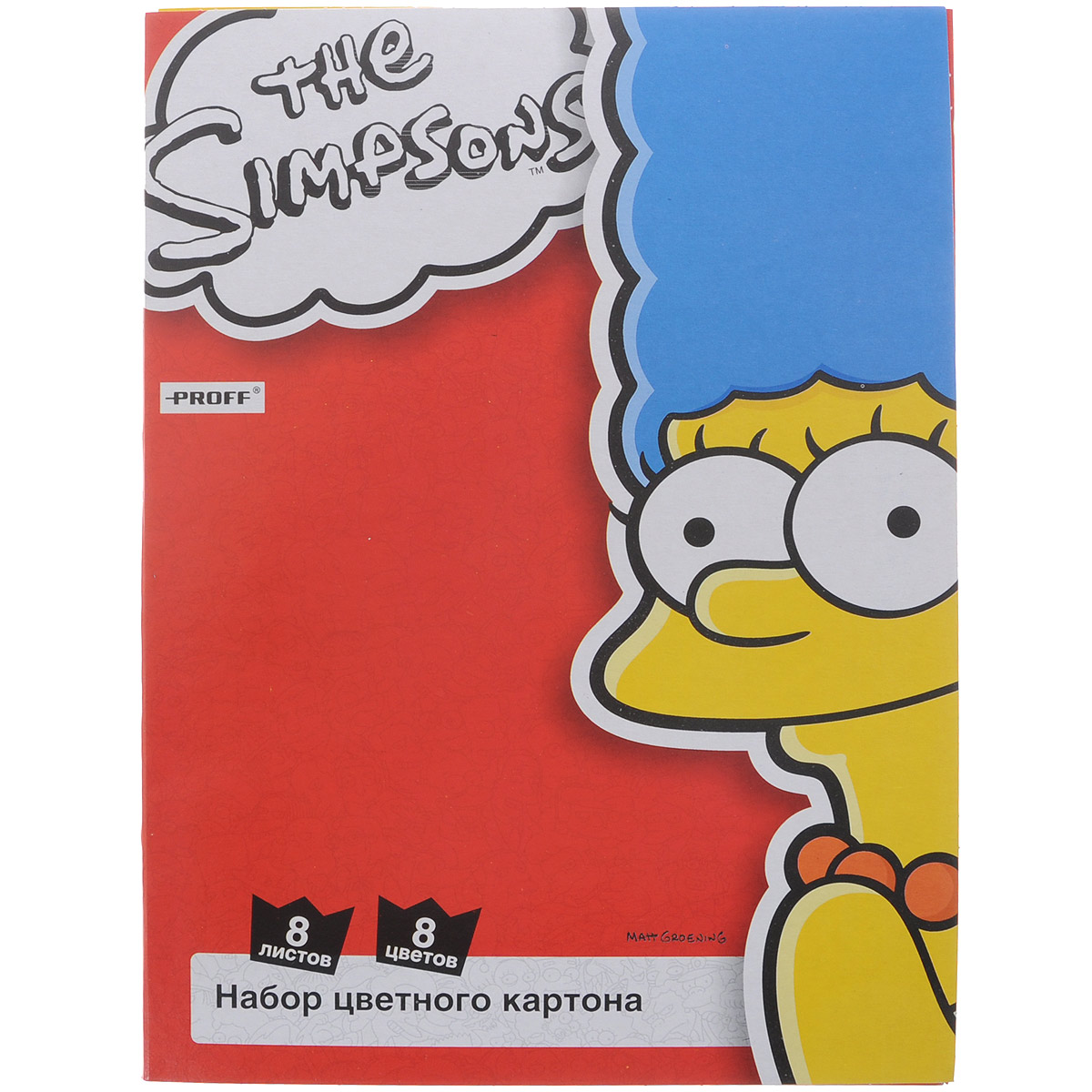 Набор цветного картона The Simpsons, 8 листовПП4-сл.Набор цветного картона Proff The Simpsons прекрасно выполненный, замечательный набор для детского творчестваНабор позволит создавать всевозможные аппликации и поделки. Набор состоит из картона желтого, черного, зеленого, белого, красного, синего, оранжевого и малинового цветов. Создание поделок из цветного картона позволяет ребенку развивать творческие способности, кроме того, это увлекательный досуг.Творите вместе с Proff!
