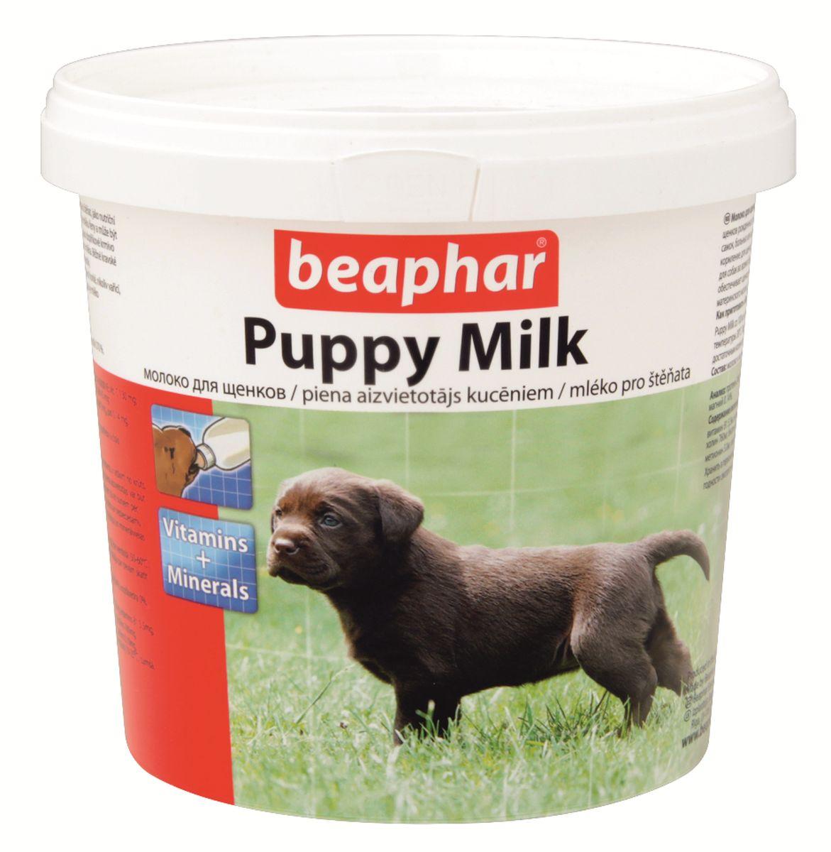 Молочная смесь Beaphar Puppy Milk, для щенков, 500 г0120710Молоко для щенков Beaphar Puppy Milk сделано из легко усваиваемой сыворотки и очень близко по составу и вкусу к натуральному молоку самки. Молочная смесь Beaphar Puppy Milk - это полноценная замена материнского молока для осиротевших, брошенных или потерявшихся щенков, щенков рожденных в многочисленном помете, при отъеме от груди и как дополнительное кормлении для беременных и кормящих самок, больных или выздоравливающих взрослых животных. Смесь может быть использована как основное кормление для щенков с рождения до 35 дней.Увеличивает выработку натурального молока. Содержит все необходимые белки, жиры, витамины и минералы в оптимальном соотношении. Состав: молоко и молочные продукты, масла и жиры, минеральные вещества. Анализ: протеин 24%; клетчатка 0%; жиры 24%, зола 7%; влага 3,5 %; кальций 0,90%, фосфор 0,60%, натрий 0,70%, магний 0,14%, калий 1,30%. Содержание витаминов и минеральных веществ в 1 кг: витамин A 50000 МЕ, витамин D3 2000 МЕ, витамин С 130 МЕ, витамин Е 100 мг, витамин B1 5,5 мг, витамин B2 20,0 мг, Д-пантотенат кальция 25,0 мг, никотинамид 25,5 мг, витамин B6 4,5 мг, витамин B12 0,05 мг, холин 760 мг, биотин 0,05 мг, витамин К3 3 мг, фолат 84 мг, железо 80 мг, цинк 40 мг, марганец 20 мг, медь 5 мг, йод 0,14 мг, селен 0,10 мг, метионин 5,0 мг, лизин 16,0 мг, антиоксиданты, эмульгаторы.Вес упаковки: 500 г.Товар сертифицирован.
