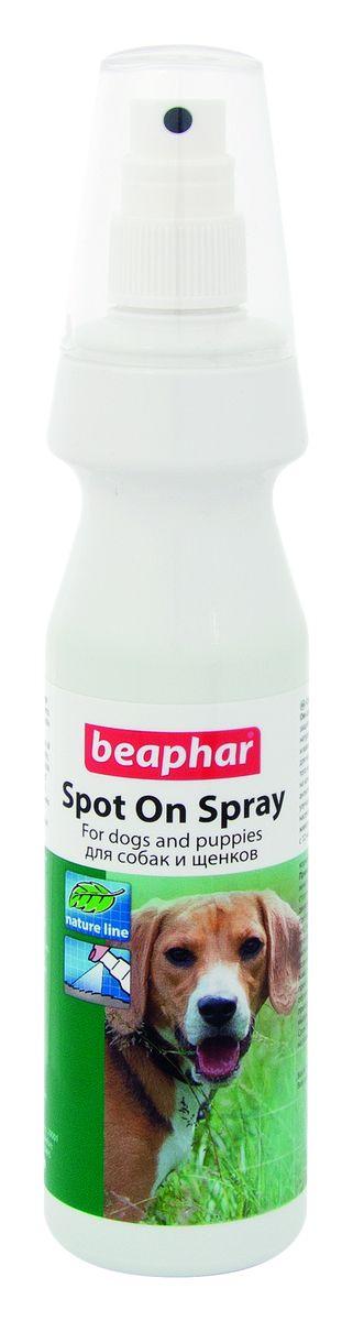 Спрей для собак Beaphar Spot On Spray, от блох и клещей, 150 млsdx100Спрей Beaphar Spot On Spray предназначен для защиты собак и щенков от блох и клещей. Спрей с натуральными маслами Beaphar Spot On Spray - это натуральная защита от насекомых. Содержит смесь натуральных масел, в том числе масло маргозы и лавандиновое масло, которые очень неприятны для насекомых (блох, клещей, комаров). Кроме того масло маргозы благоприятно действует на кожу - оно обладает антибиотическим, антигрибковым и антивирусным эффектом, улучшает вид шерсти, снижает зуд от укусов насекомых, и ликвидирует неприятный запах животного. Можно использовать для щенков с 12 недельного возраста, для беременных и кормящих животных. Состав: масло маргозы, лавандовое масло. Способ применения: хорошо взболтать, обработать животное (особенно бока, внутреннюю сторону бедер, живот, хвост, кончики ушей), двигаясь от хвоста к голове, направляя струю против шерсти. После того как шерсть высохнет, расчешите ее. Объем: 150 мл. Товар сертифицирован.