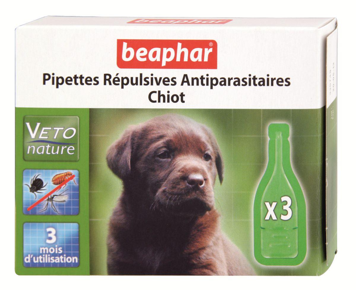 Капли от блох и клещей Beaphar, для щенков, 3 х 1 мл0120710Капли Beaphar - это капли с натуральными маслами для щенков с 12 недельного возраста. Отпугивают блох, клещей и комаров. Одна дозировка защищает животное от паразитов в течении 1 месяца. В упаковке 3 пипетки по 1 мл. Способ применения: отломать верх пипетки и нанести содержимое пипетки на холку. Повторить через 4 недели. Осторожно использовать капли на животных с белой шерстью, так как шерсть может слегка окраситься в месте нанесения препарата. Не использовать на больных и выздоравливающих животных. Избегать попадания в глаза, нос животного. Состав: экстракт маргозы 50 г/л. Товар сертифицирован.