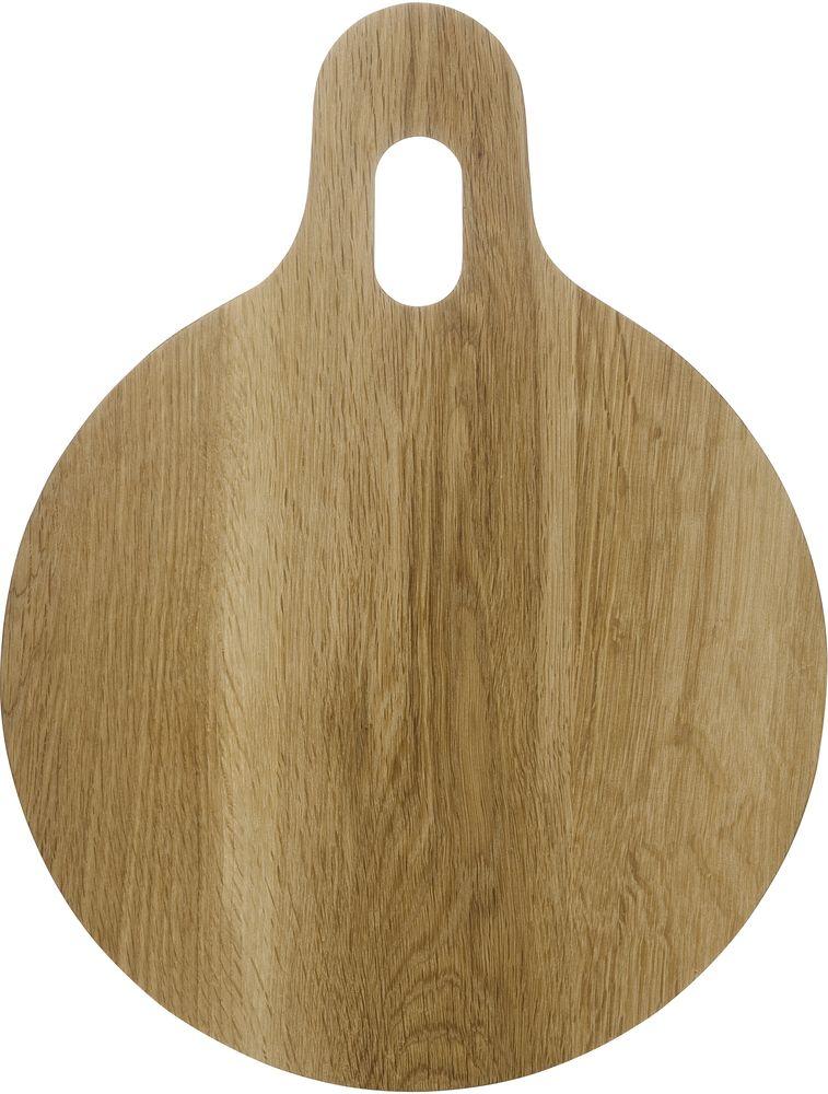 Доска разделочная Sagaform Oval Oak, 32,5 х 25 см115510Разделочная доска Sagaform Oval Oak необычной формы изготовлена из дерева (дуб) - материала, который не повреждает лезвия ножей. Доска снабжена ручкой с отверстием для подвеса. Может использоваться с двух сторон. Такая доска станет незаменимой помощницей для приготовления пищи.