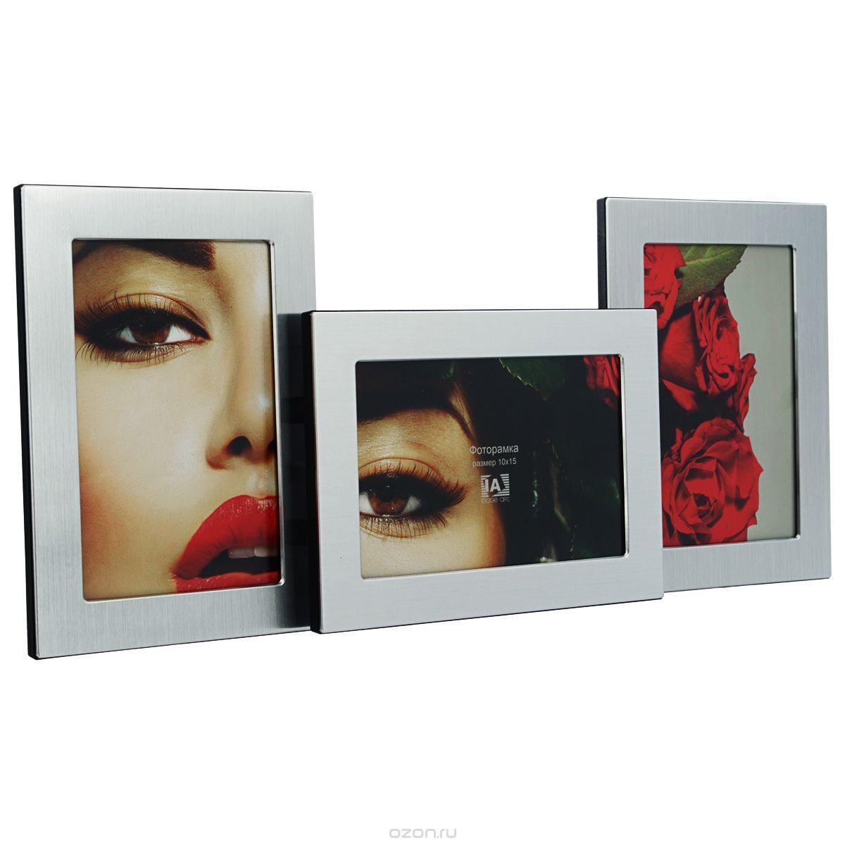 Фоторамка Image Art, цвет: серебристый, на 3 фото, 10 см х 15 см. 6017/4-3SPlatinum JW25-5 АНЦИО-КОРИЧНЕВЫЙ 15x21Фоторамка-коллаж Image Art - прекрасный способ красиво оформить вашифотографии. Изделие рассчитано на 3 фотографии. Фоторамка выполнена из алюминия и пластика и защищена стеклом. Фоторамкуможно поставить на стол или подвесить на стену, для чего с задней стороны предусмотреныспециальные отверстия. Такая фоторамка поможет сохранить на память самые яркие моменты вашейжизни, а стильный дизайн сделает ее прекрасным дополнением интерьера.