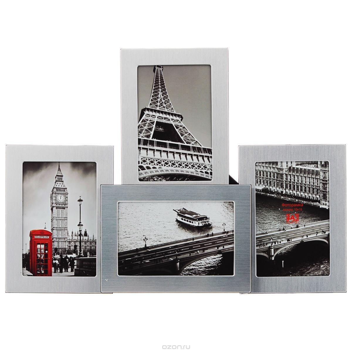Фоторамка Image Art, на 4 фото, 10 см х 15 см. 6019/4-4S133384Фоторамка Image Art - прекрасный способ красиво оформить ваши фотографии. Фоторамка выполнена из пластика и защищена стеклом, предназначена для четырех фотографий с вертикальным и горизонтальным расположением. Фоторамку можно поставить на стол с помощью специальной ножки или подвесить на стену, для чего с задней стороны предусмотрены отверстия. Такая фоторамка поможет сохранить на память самые яркие моменты вашей жизни, а стильный дизайн сделает ее прекрасным дополнением интерьера комнаты.